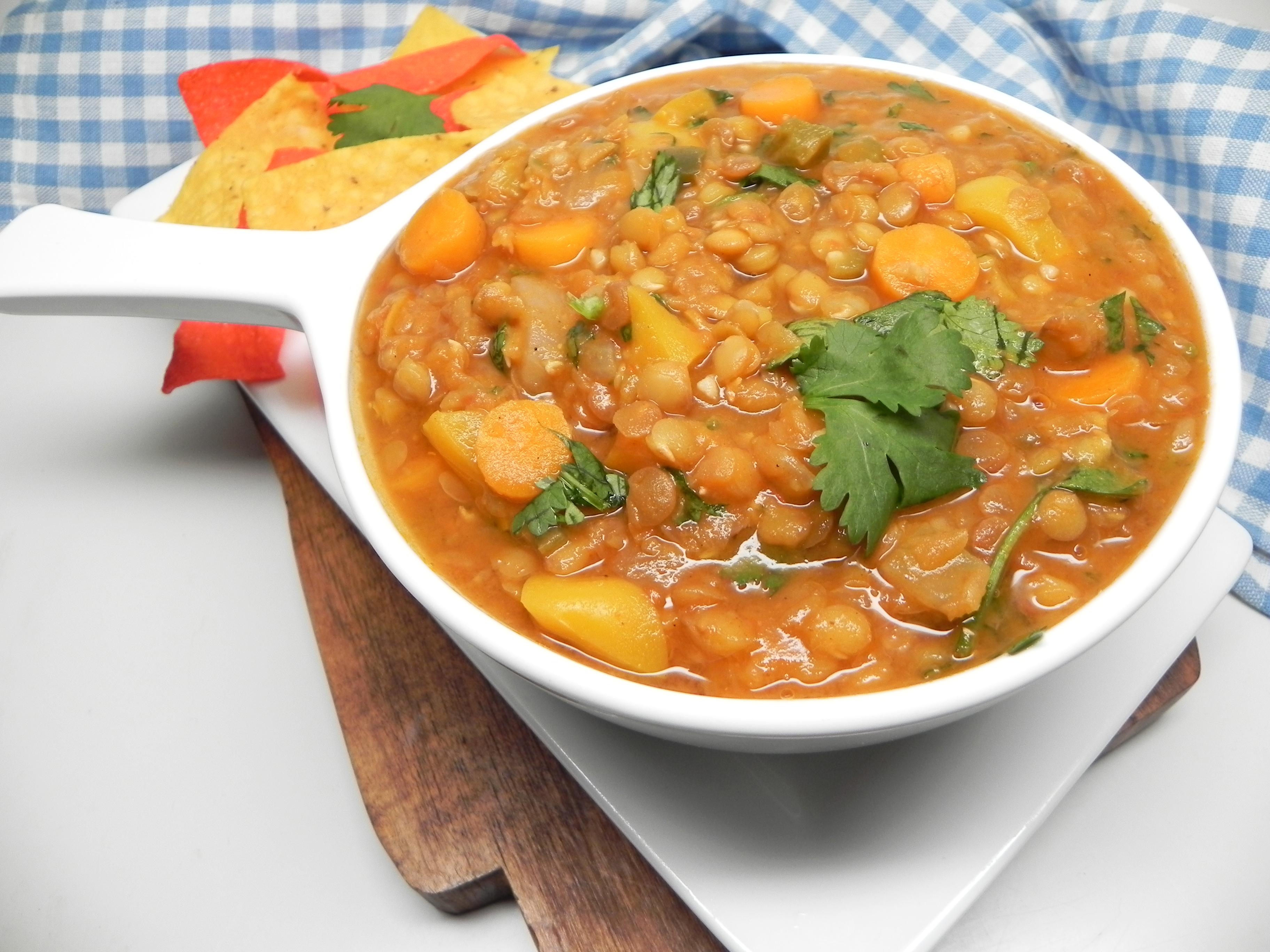 Instant Pot® Mexican Lentil Soup Soup Loving Nicole