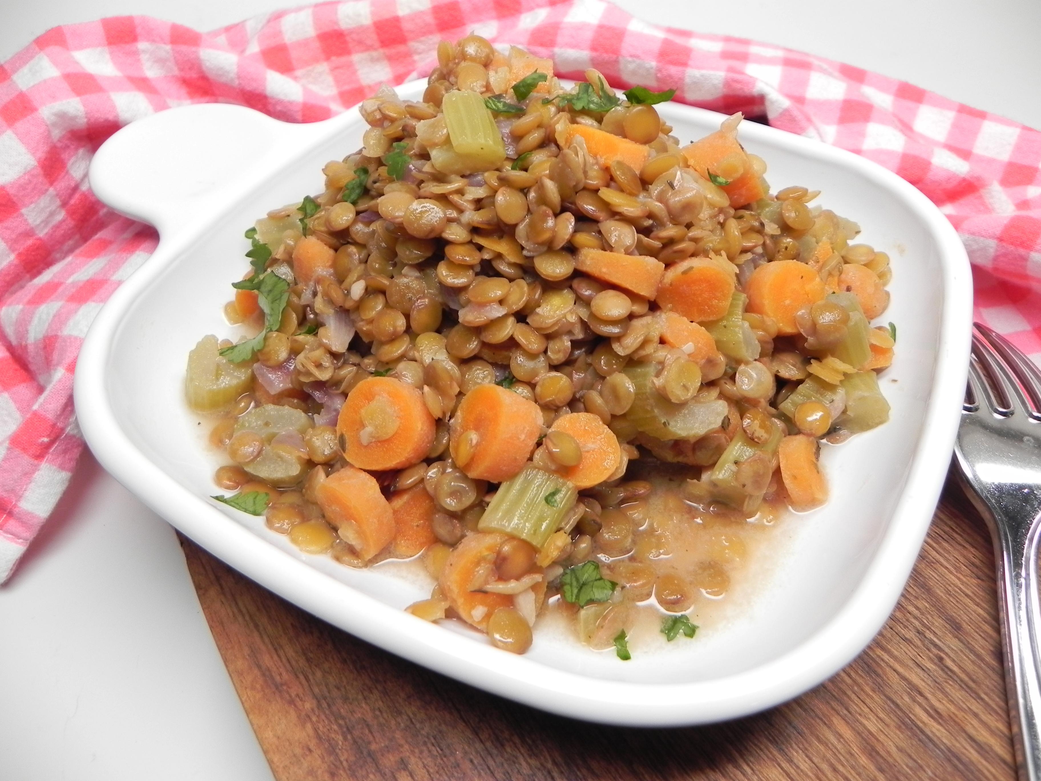 Instant Pot® Warm Lentil Salad with Dijon Vinaigrette