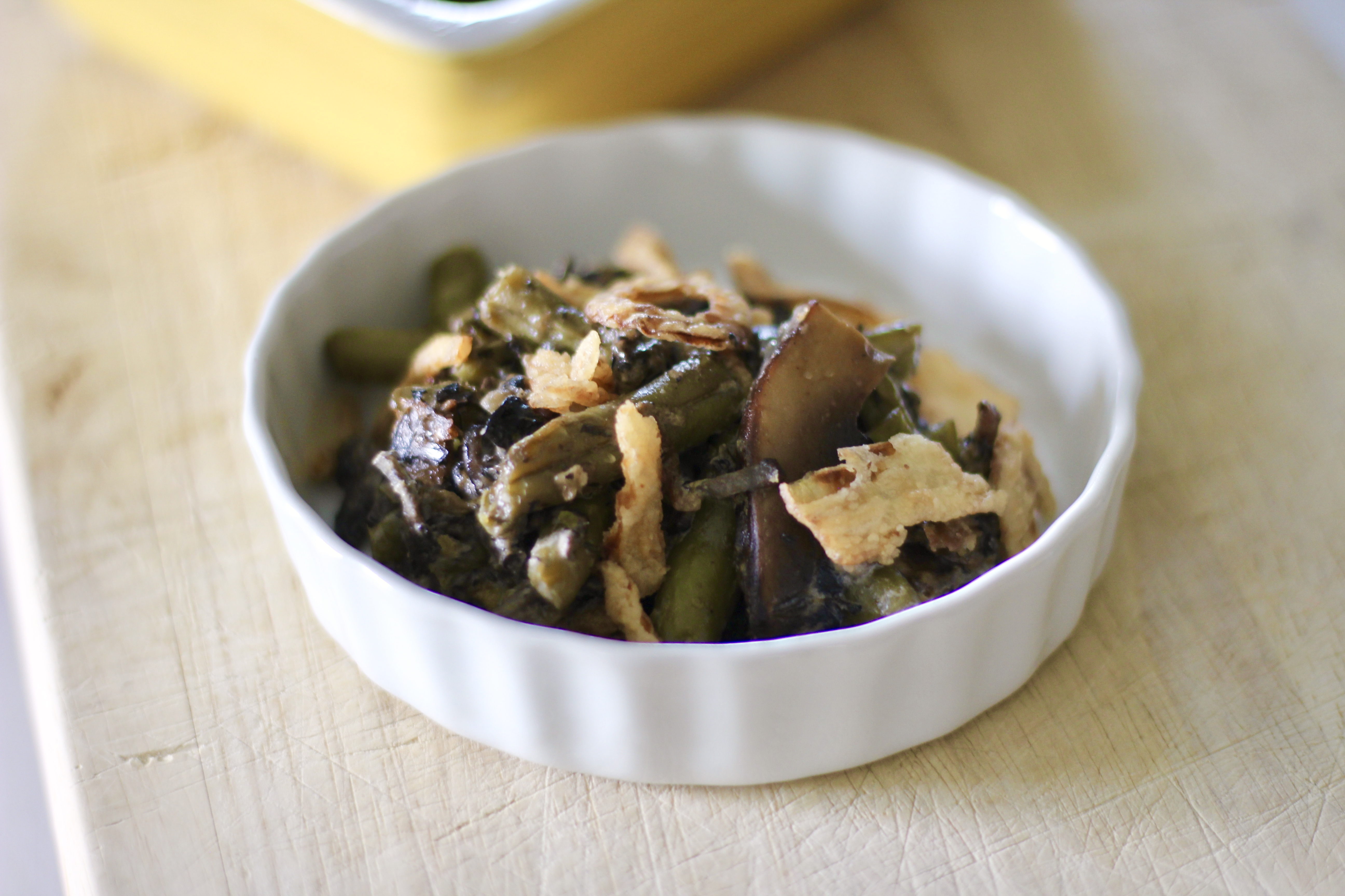 Lighter Green Bean and Portobello Mushroom Casserole SunnyDaysNora