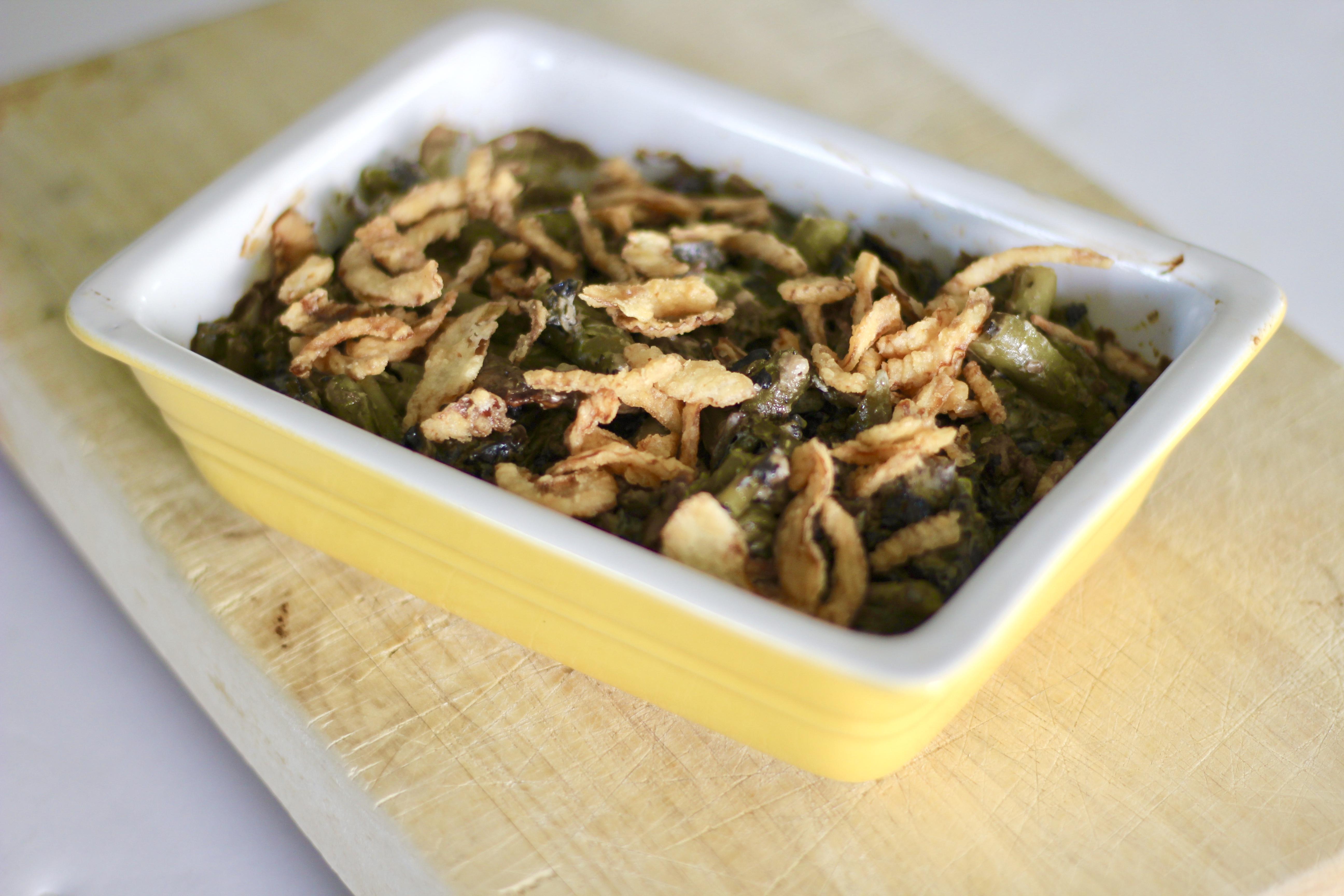 Lighter Green Bean and Portobello Mushroom Casserole
