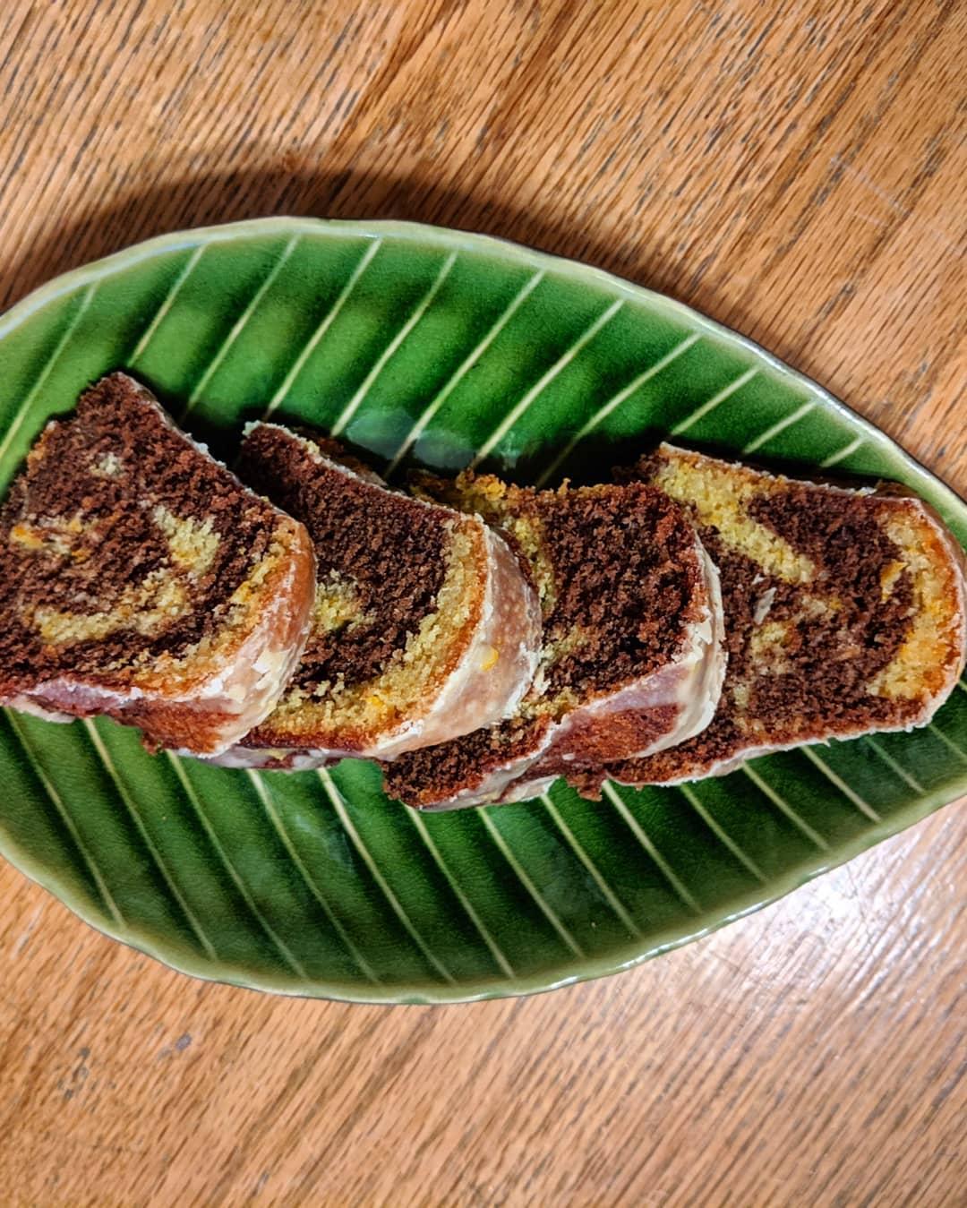 Chocolate Orange Marble Cake Emily