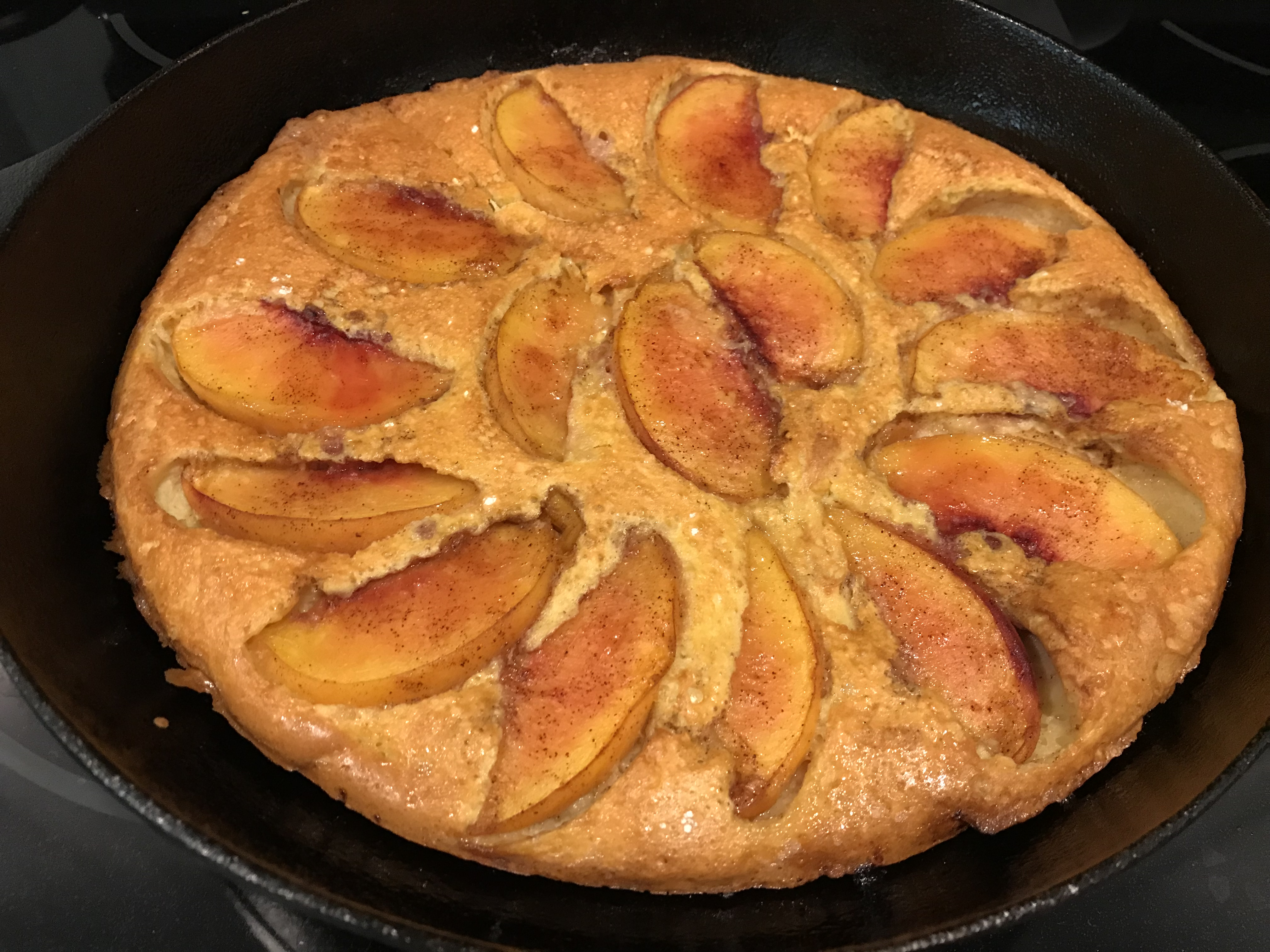 Baked Pancake with Peaches Carol G