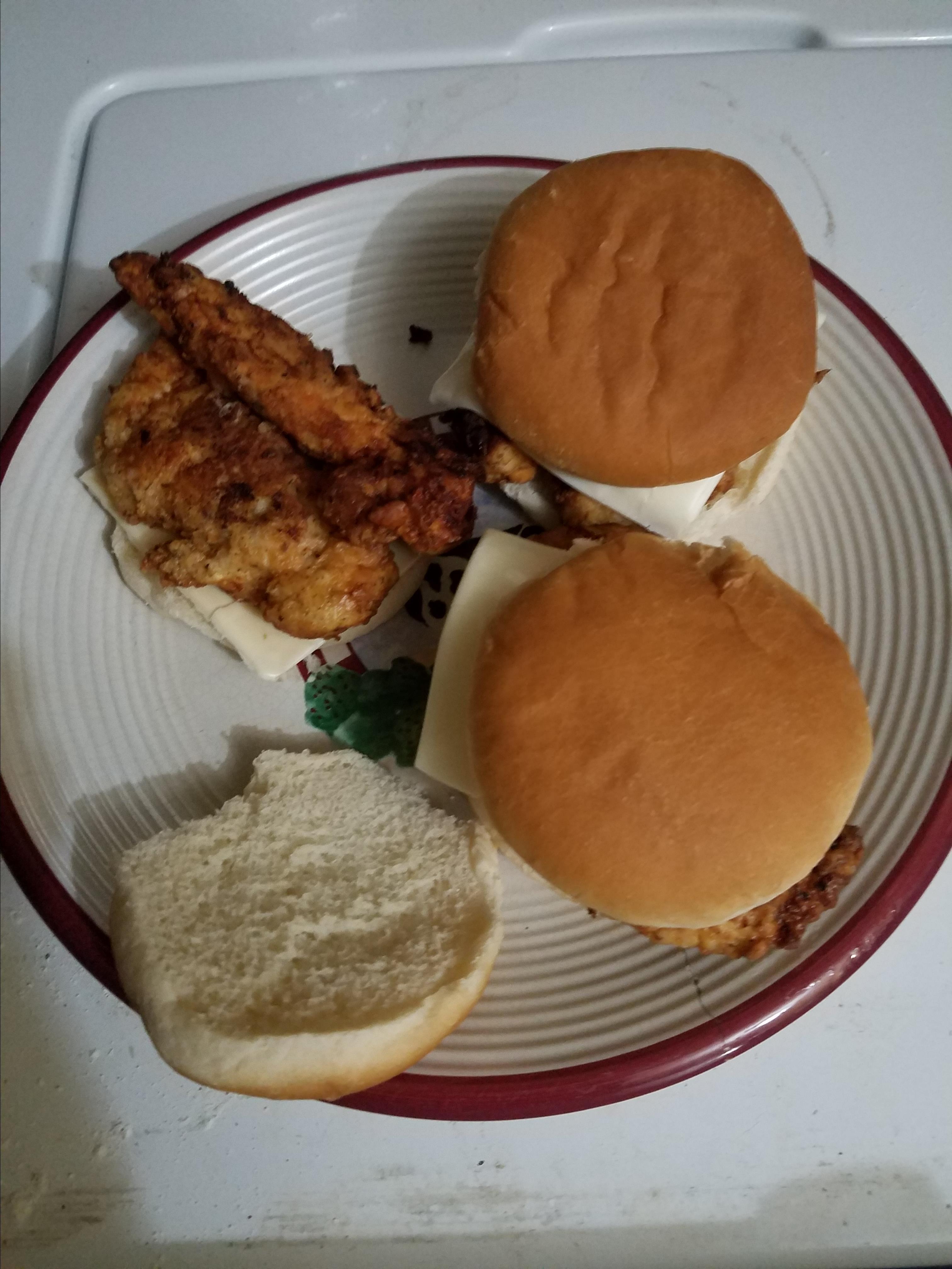 Fried Chicken Sandwich Conrad Hutchings