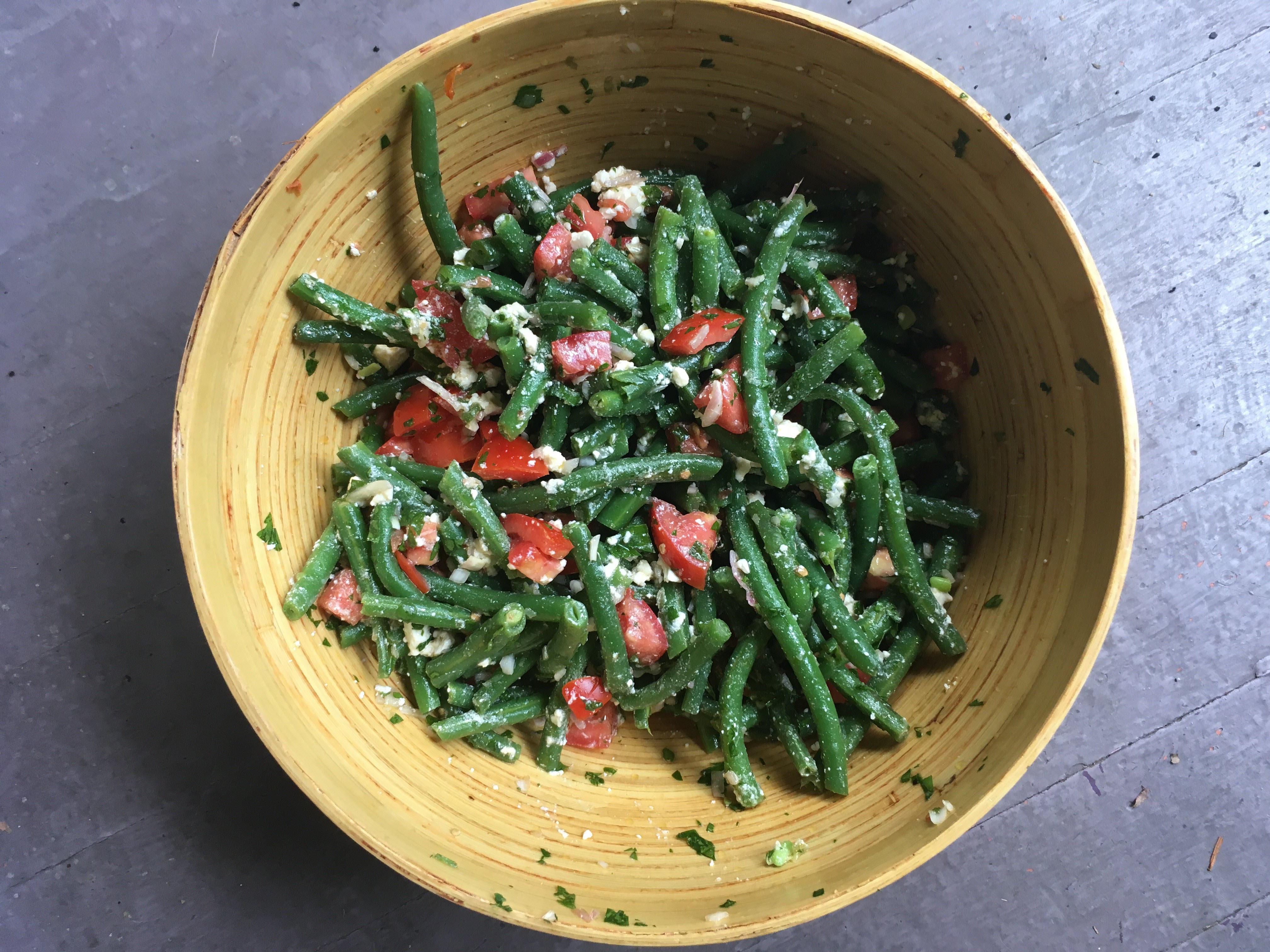 Greek Green Bean Salad with Feta and Tomatoes
