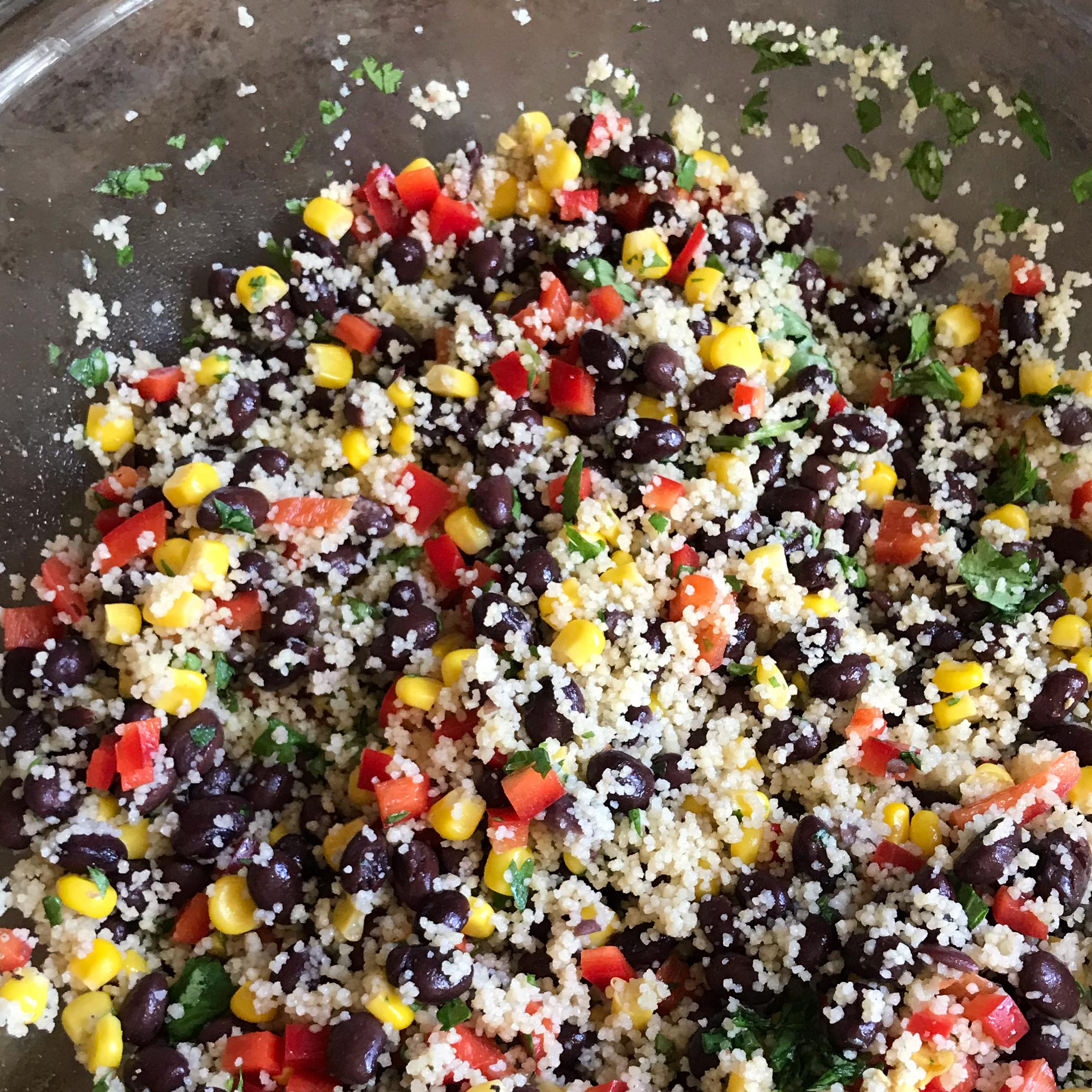 Black Bean and Couscous Salad Emily Feldberg