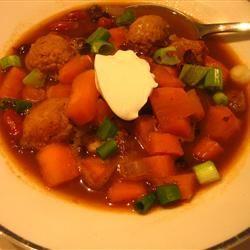Black Bean, Sausage, and Sweet Potato Soup Anuja