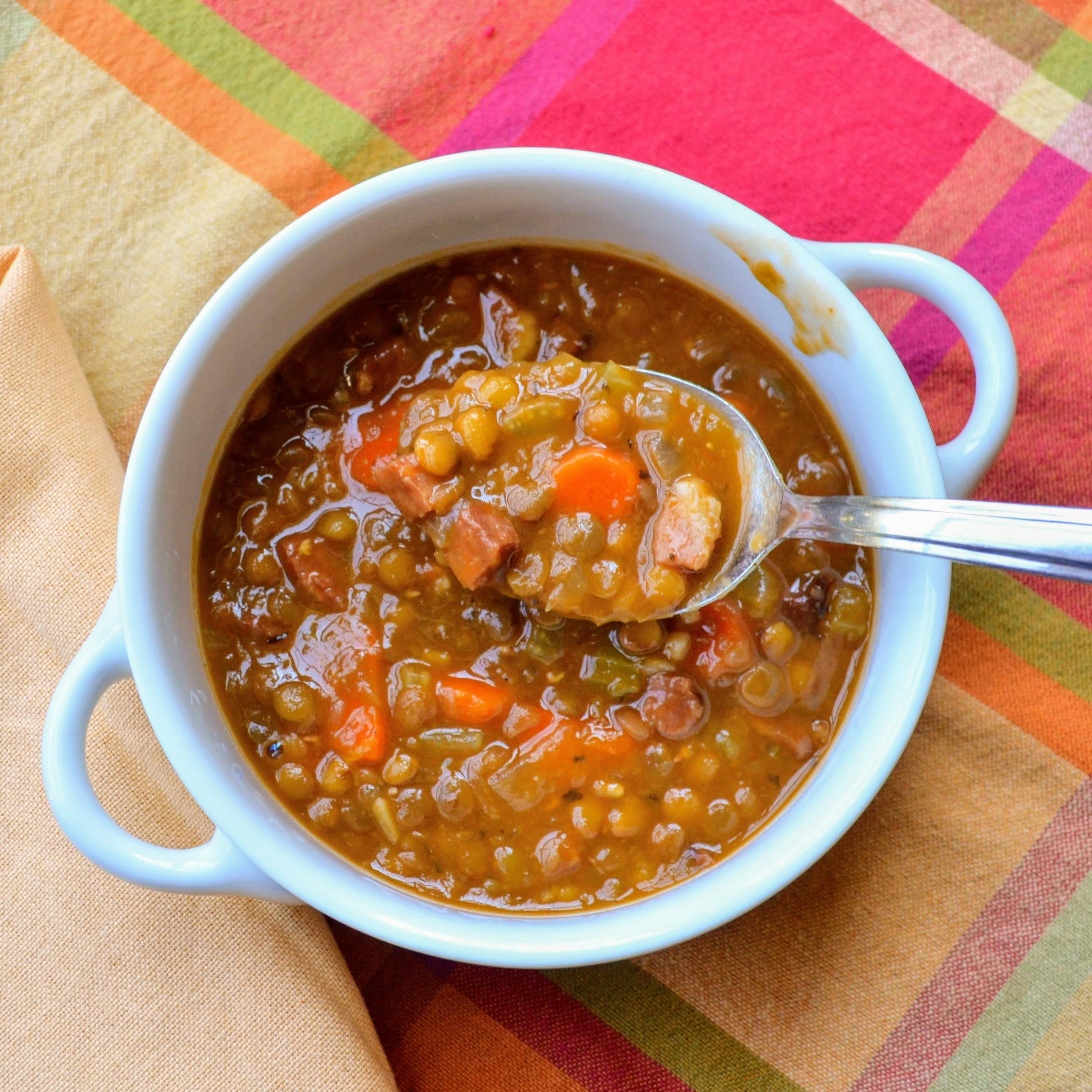 Instant Pot® Lentil and Ham Soup