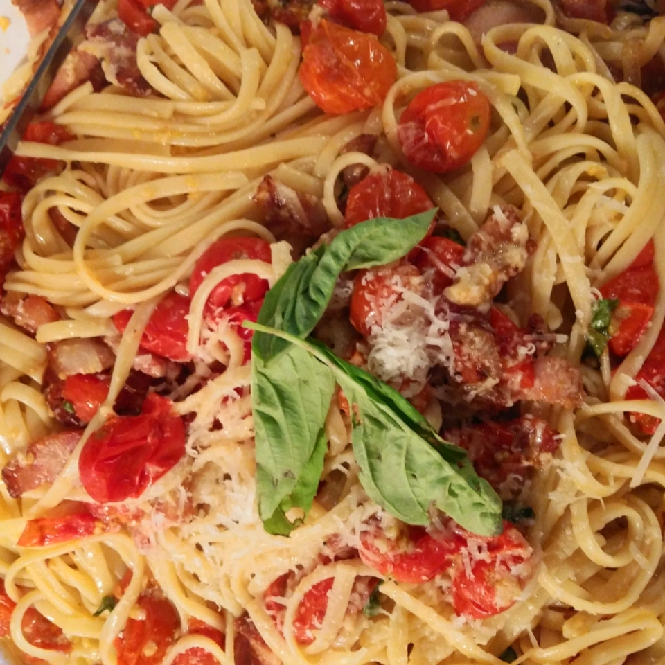 Roasted Cherry Tomatoes with Angel Hair