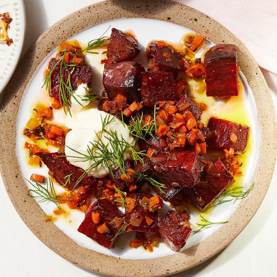 Roasted Beets with Caraway & Crème Fraîche Allrecipes Trusted Brands