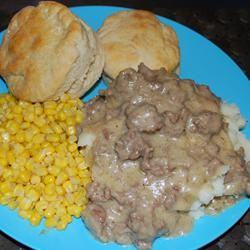 Army SOS Creamed Ground Beef Skillet