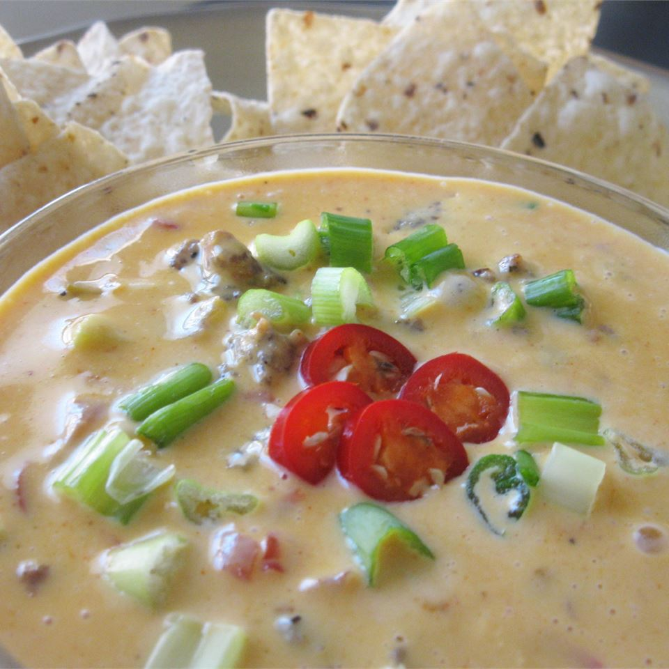 "Another 5-ingredient dip that heats up in a hurry. ""Made this for a football play-off party and it was a smash hit! People were just standing at the crockpot scooping away. The host demanded the recipe,"" says NHG40."