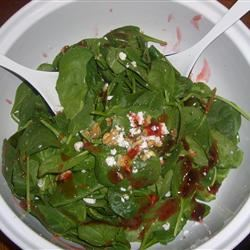Spinach Salad with Pepper Jelly Dressing Jillian Kuhlmann