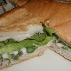 Springtime Asparagus and Parmesan Sandwich