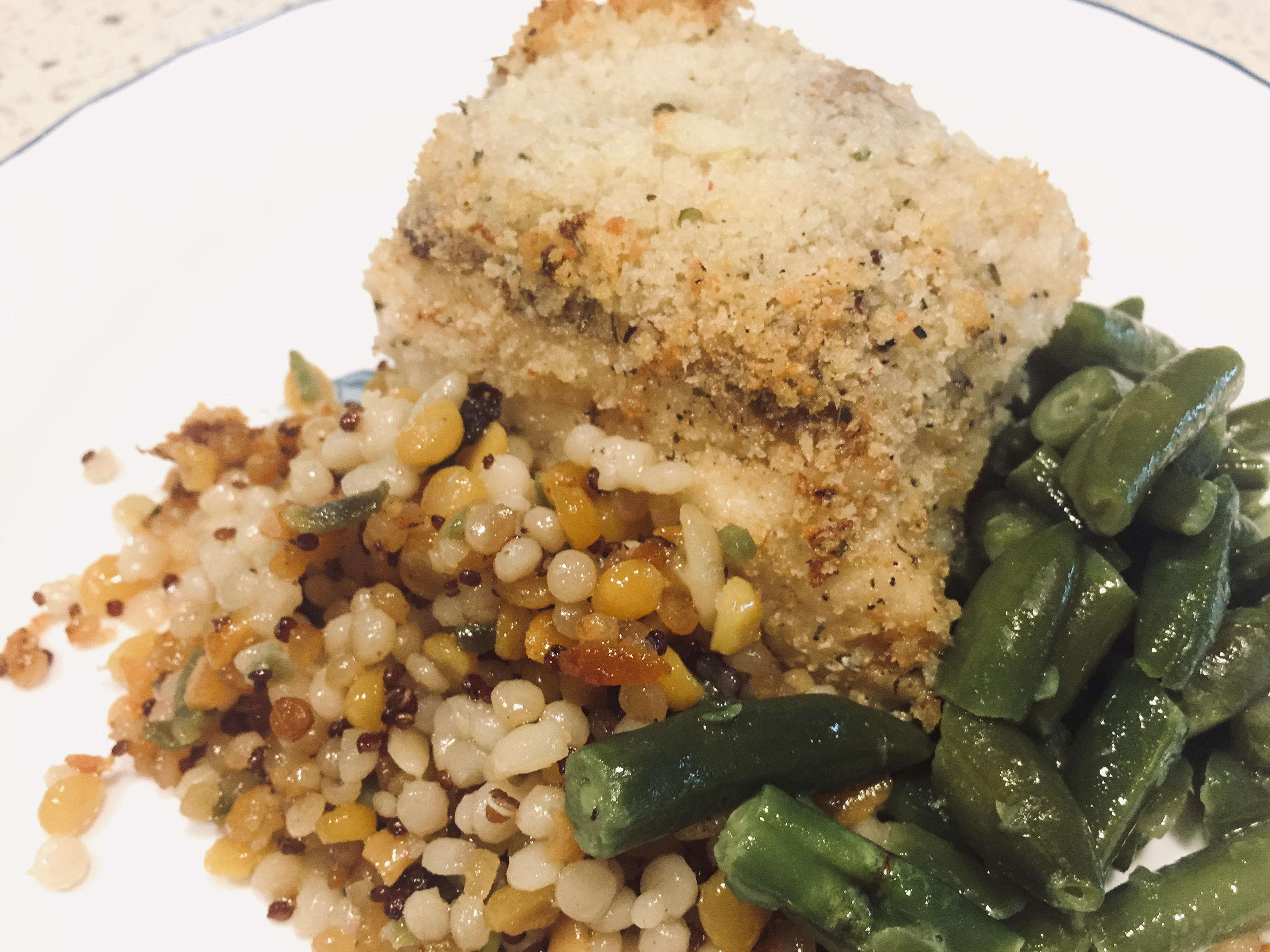 Pan-Seared and Crusted Ling Cod