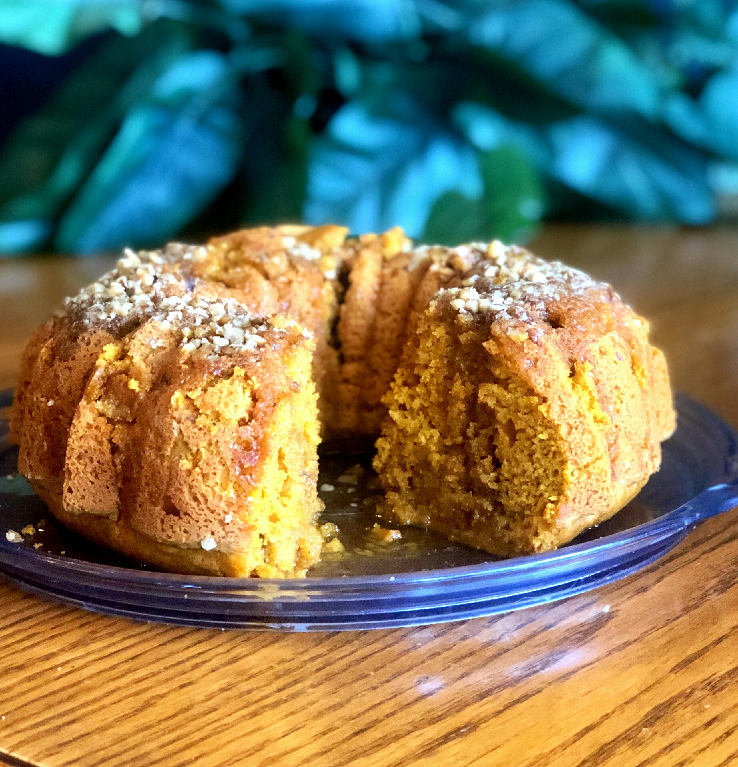 Pumpkin Bundt® Cake with Rum Glaze Gilly