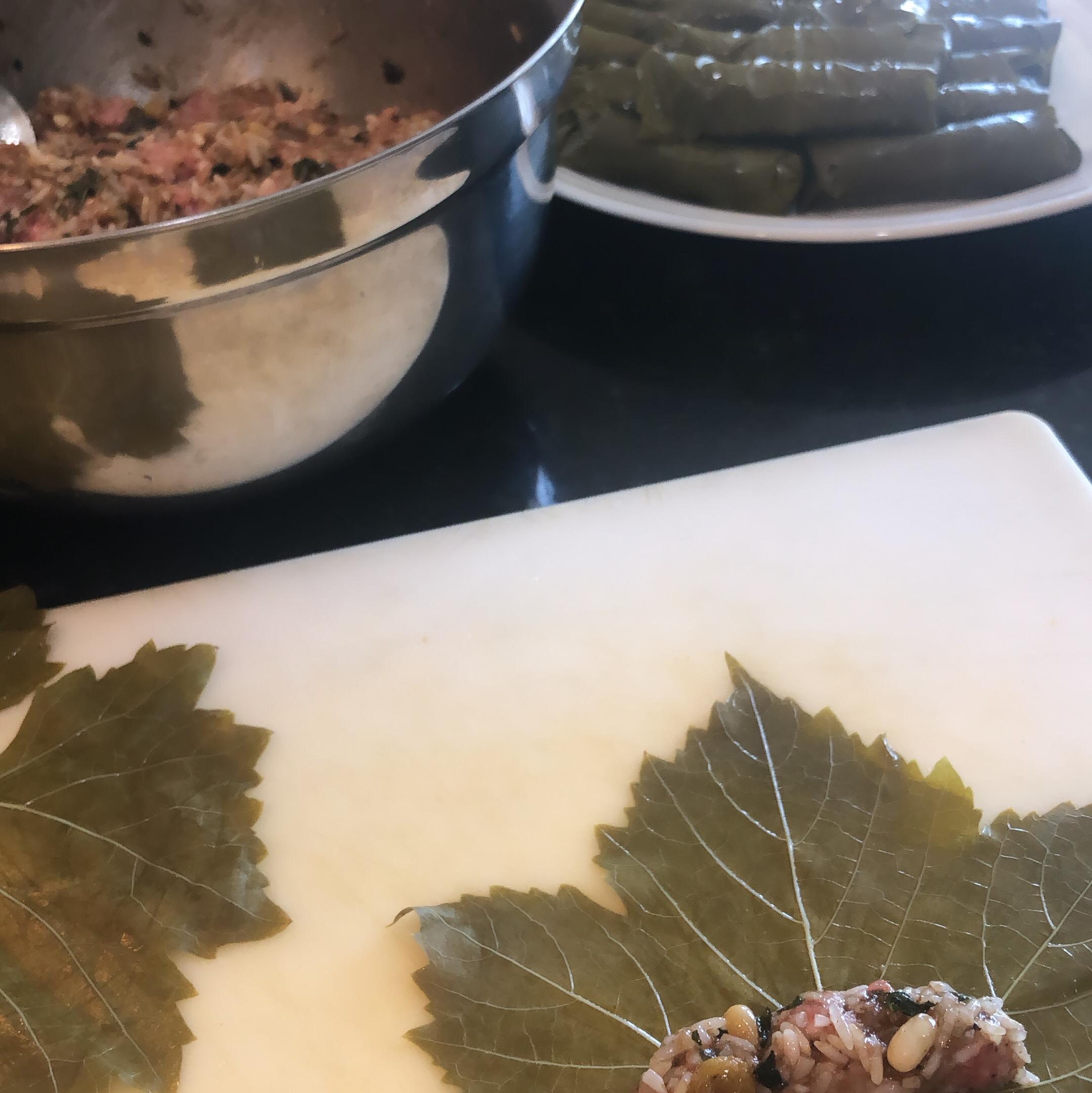 Lamb and Rice Stuffed Grape Leaves