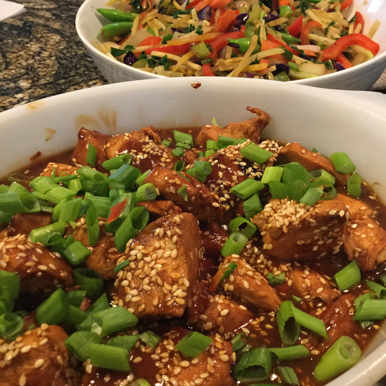 Healthier Pan-Fried Honey-Sesame Chicken Patty