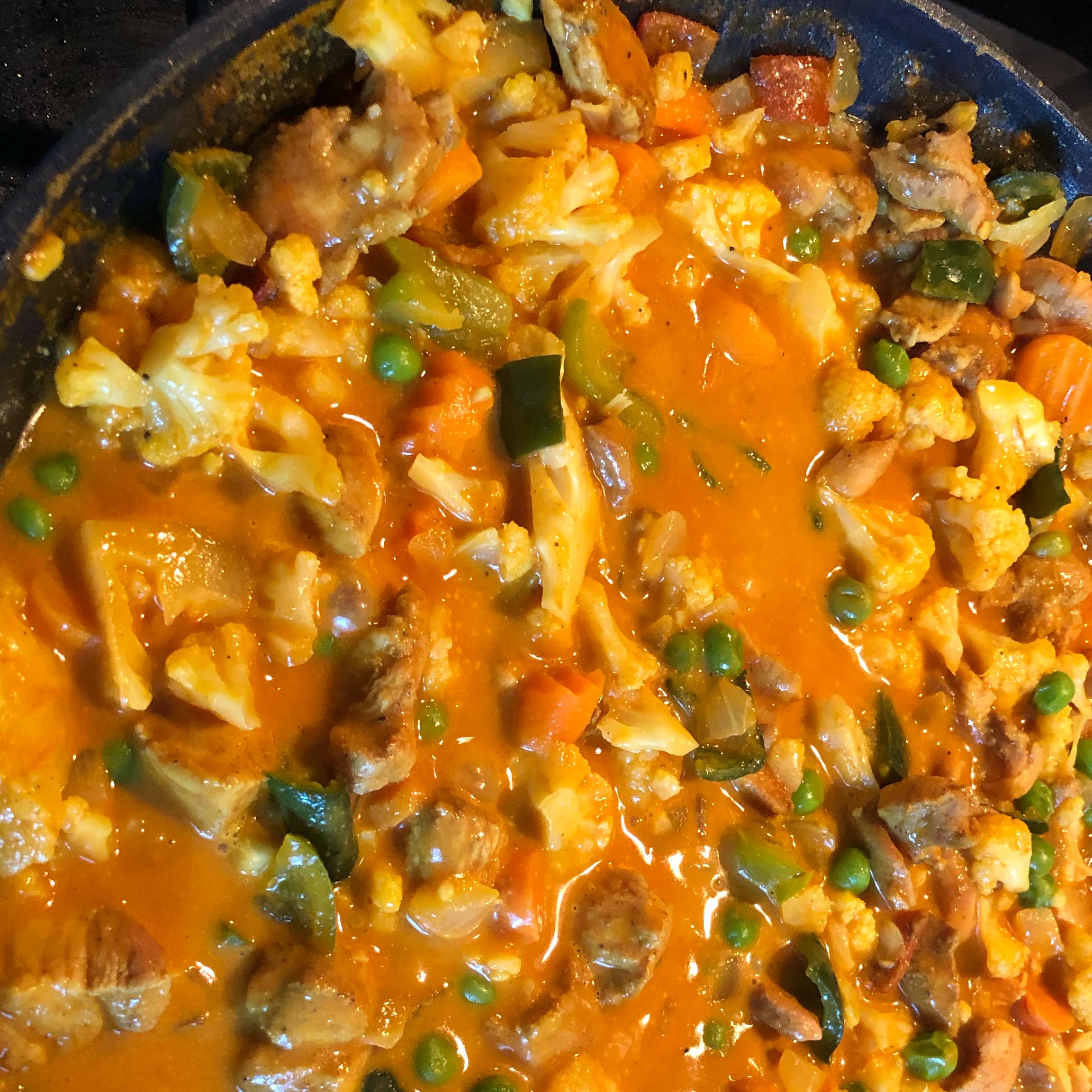 Chicken Cauliflower Korma pcushenan