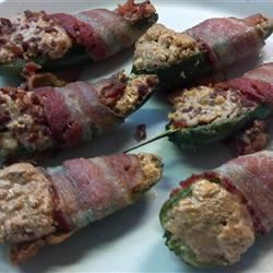 Bacon-Wrapped Peanut Butter Jalapenos Huck