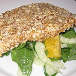 Almond Orange Crusted Chicken with Fennel Arugula Salad PamMar