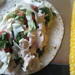 Grilled Fish Tacos with Chipotle-Lime Dressing mommyluvs2cook