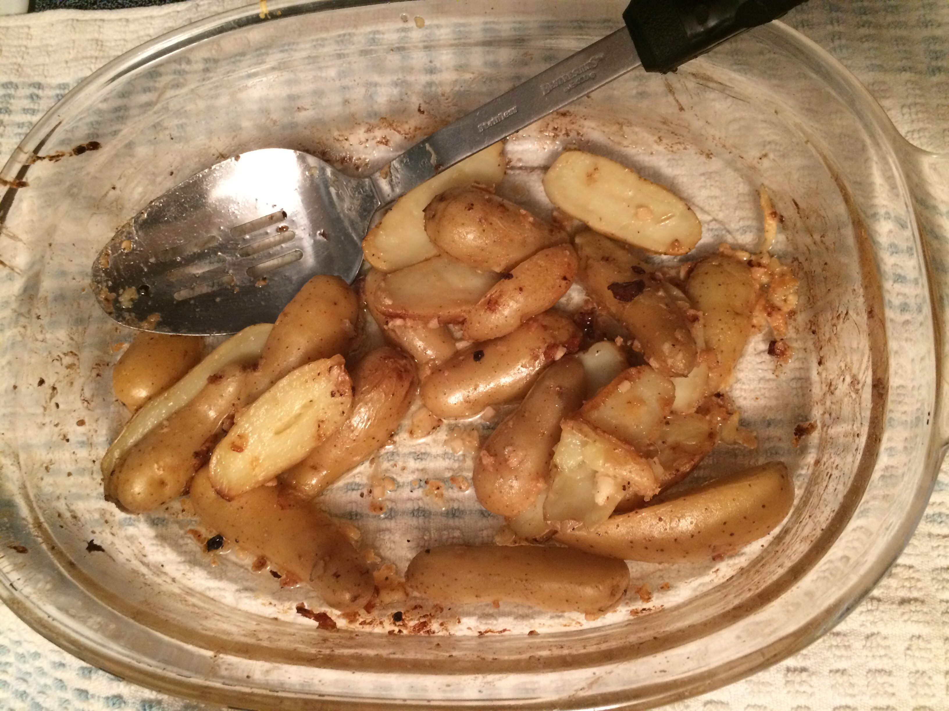 Roasted Garlic-Parmesan Fingerling Potatoes