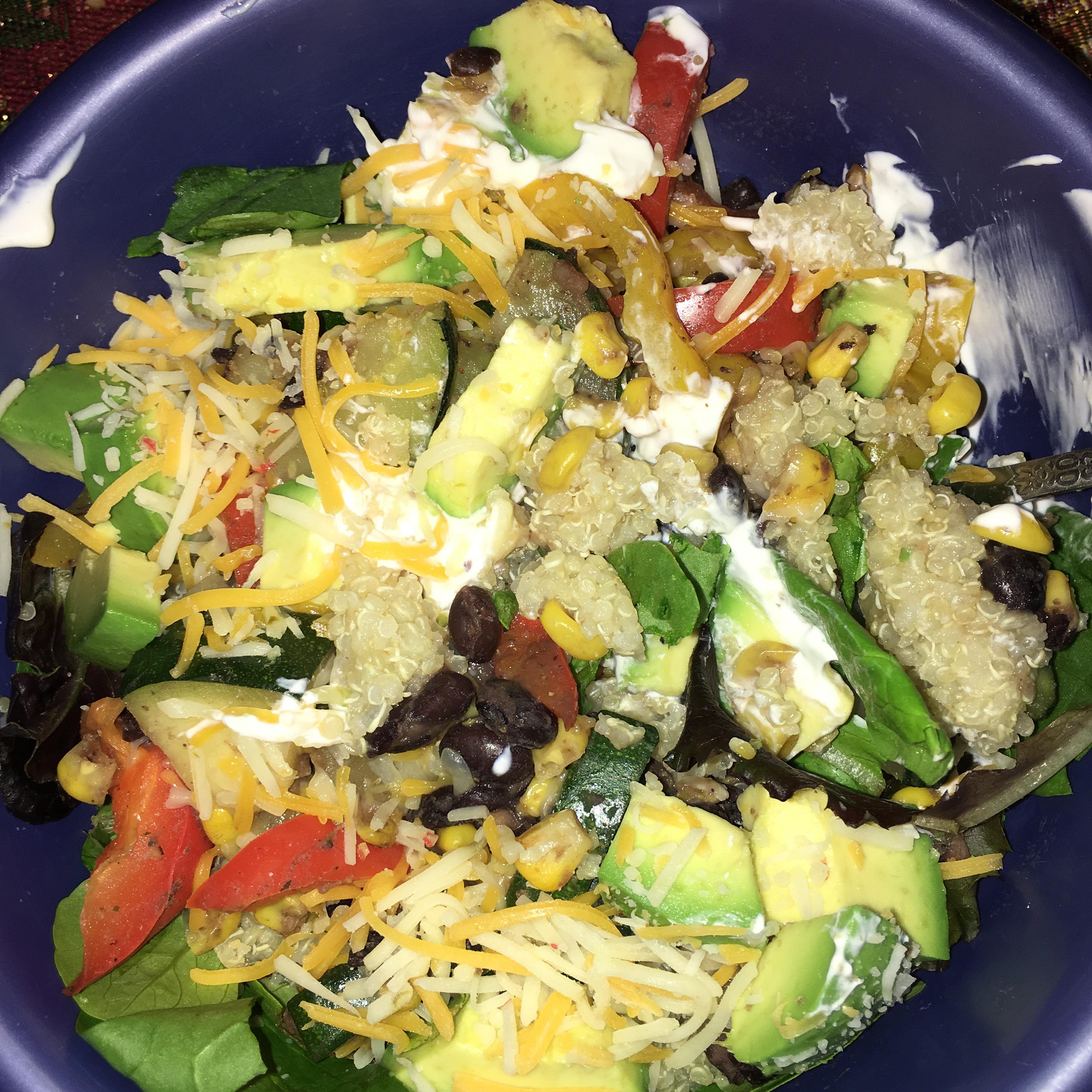 Vegan Quinoa and Guac Bowl Destiny Swan Estrada