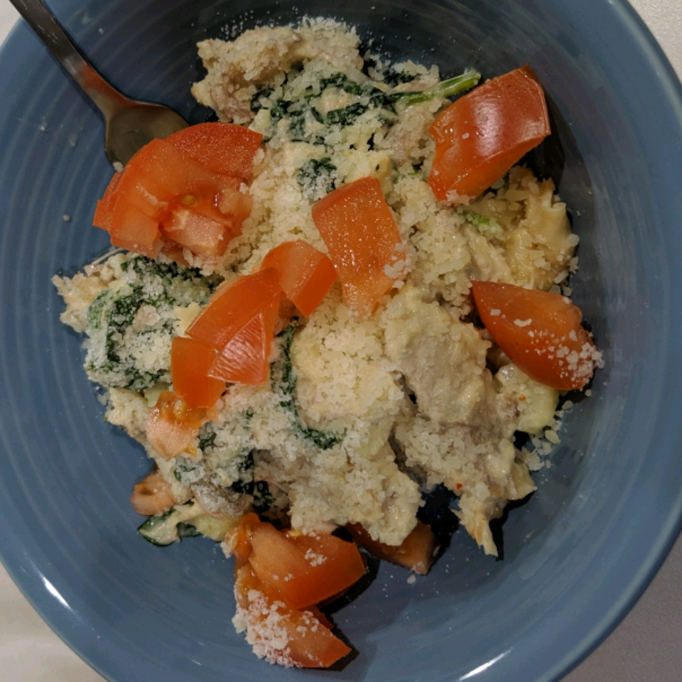 Creamy Rice, Chicken and Spinach Dinner Philadelphia