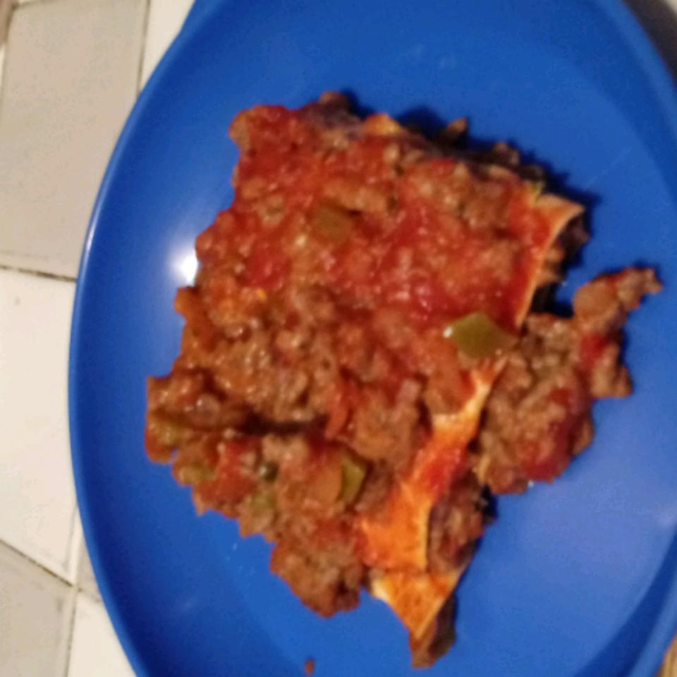 Mexican Lasagna with Noodles