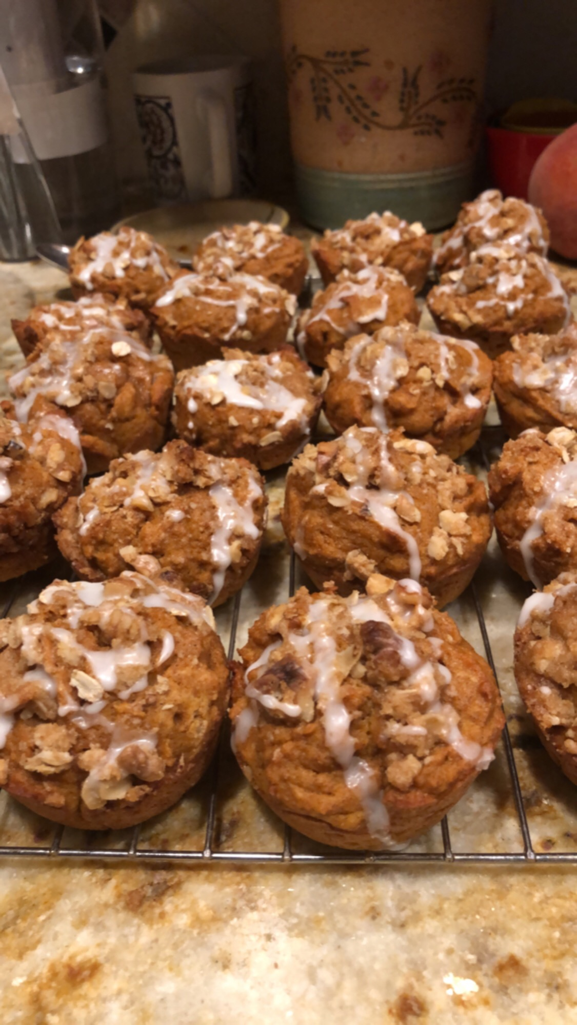 Skinny Pumpkin Spice Muffins with Walnut Streusel Teddy O'Connell Buell