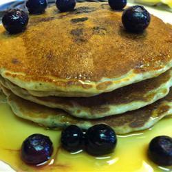 Oatmeal and Wheat Flour Blueberry Pancakes Valorie