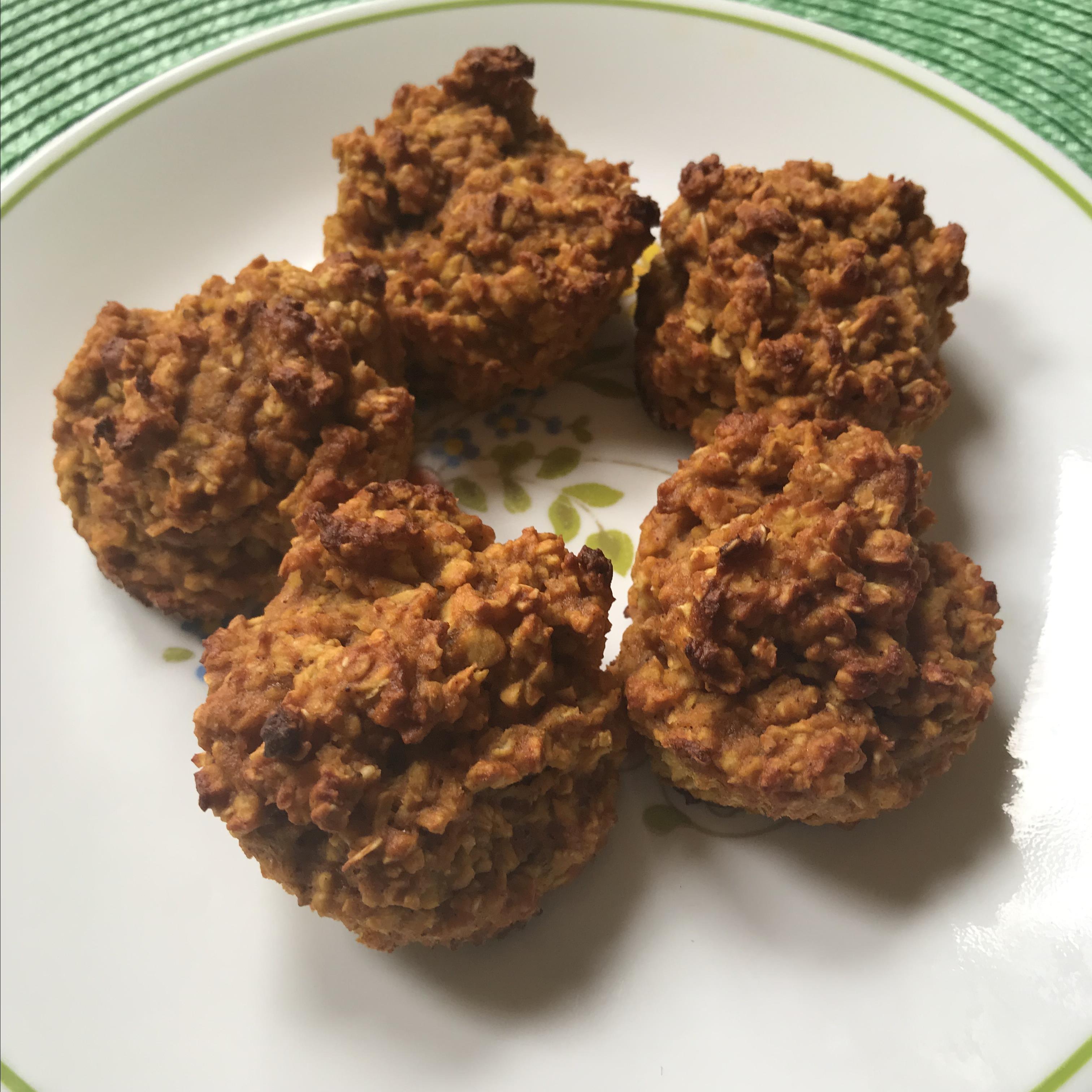 Flourless Spiced Pumpkin Muffin Bites