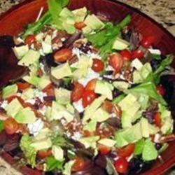 Cranberry, Glazed Walnut, Orange, Avocado, and Blue Cheese Salad