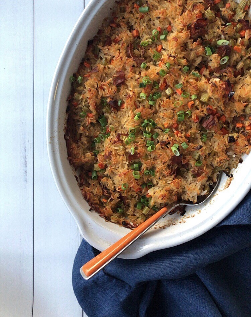 """Baked """"Fried"""" Rice LauraF"""