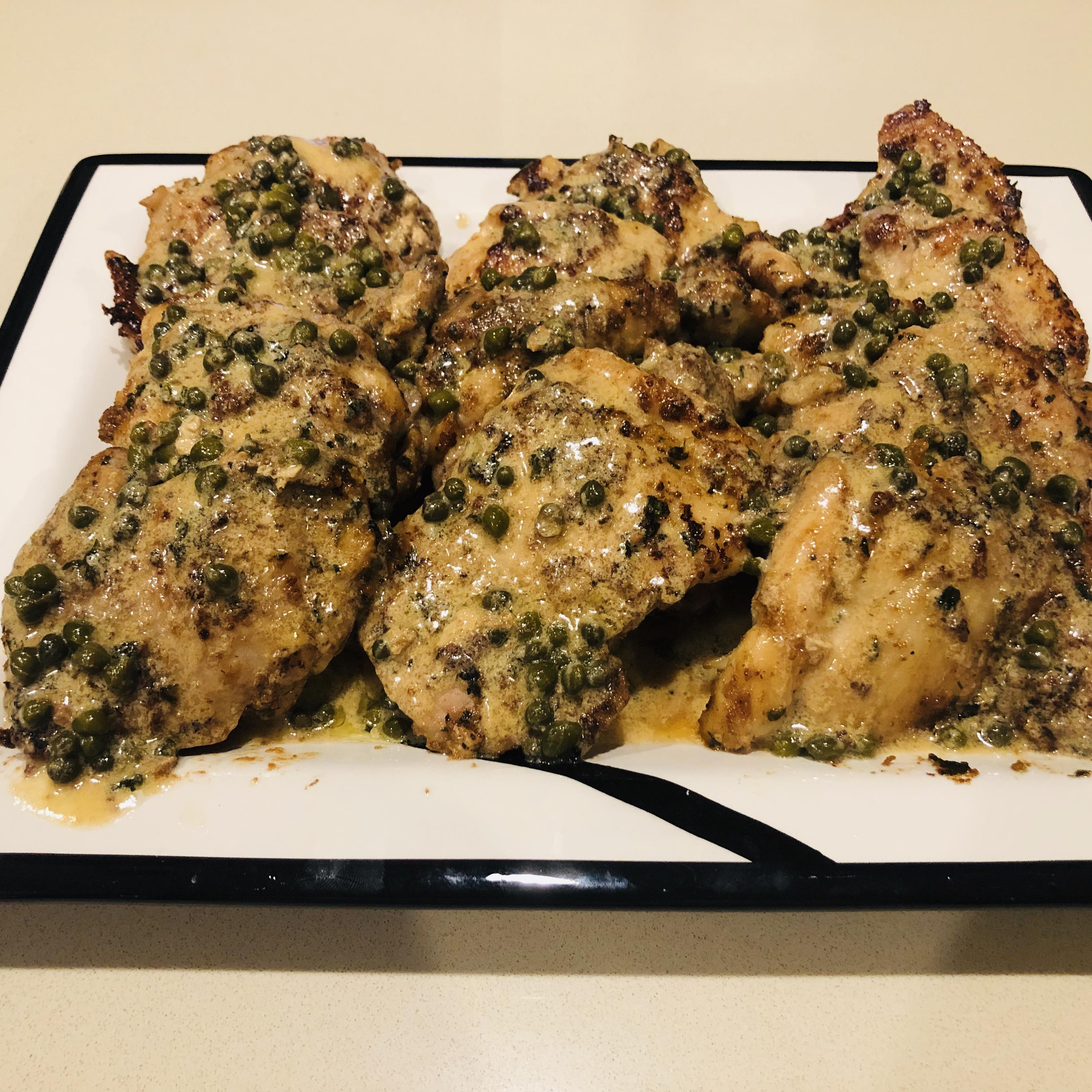Chicken Breasts in Caper Cream Sauce