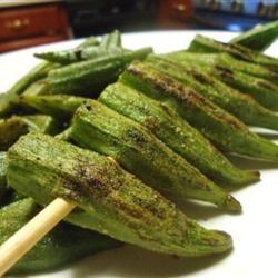 Grilled Okra hungryallweighs