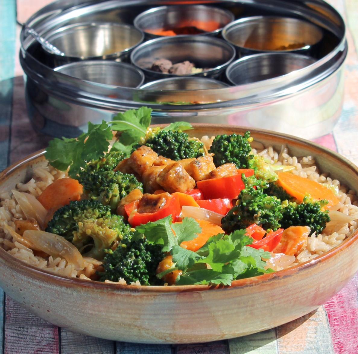 Panang Curry with Tofu and Vegetables Van Dana