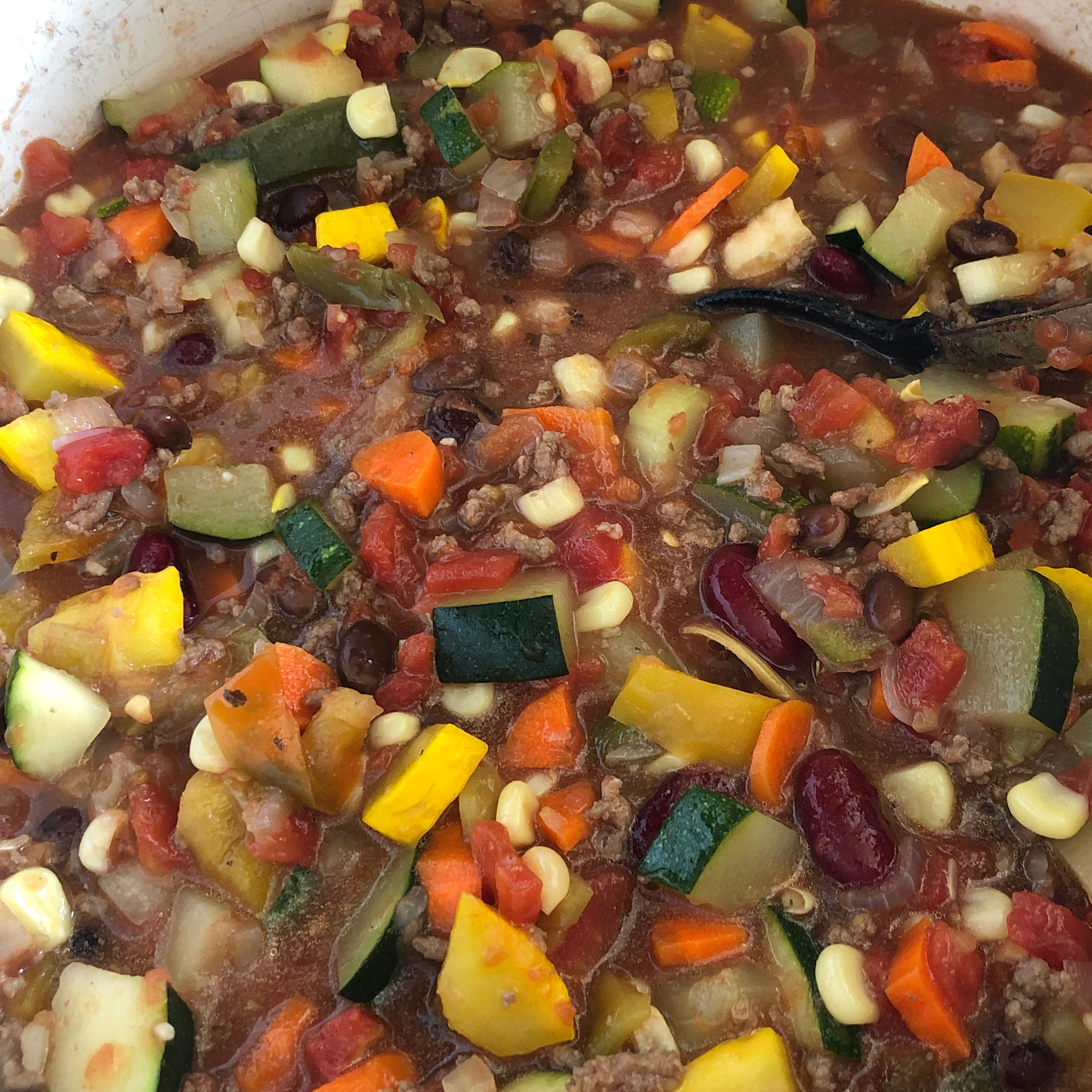 Very Veggie and Beef Chili