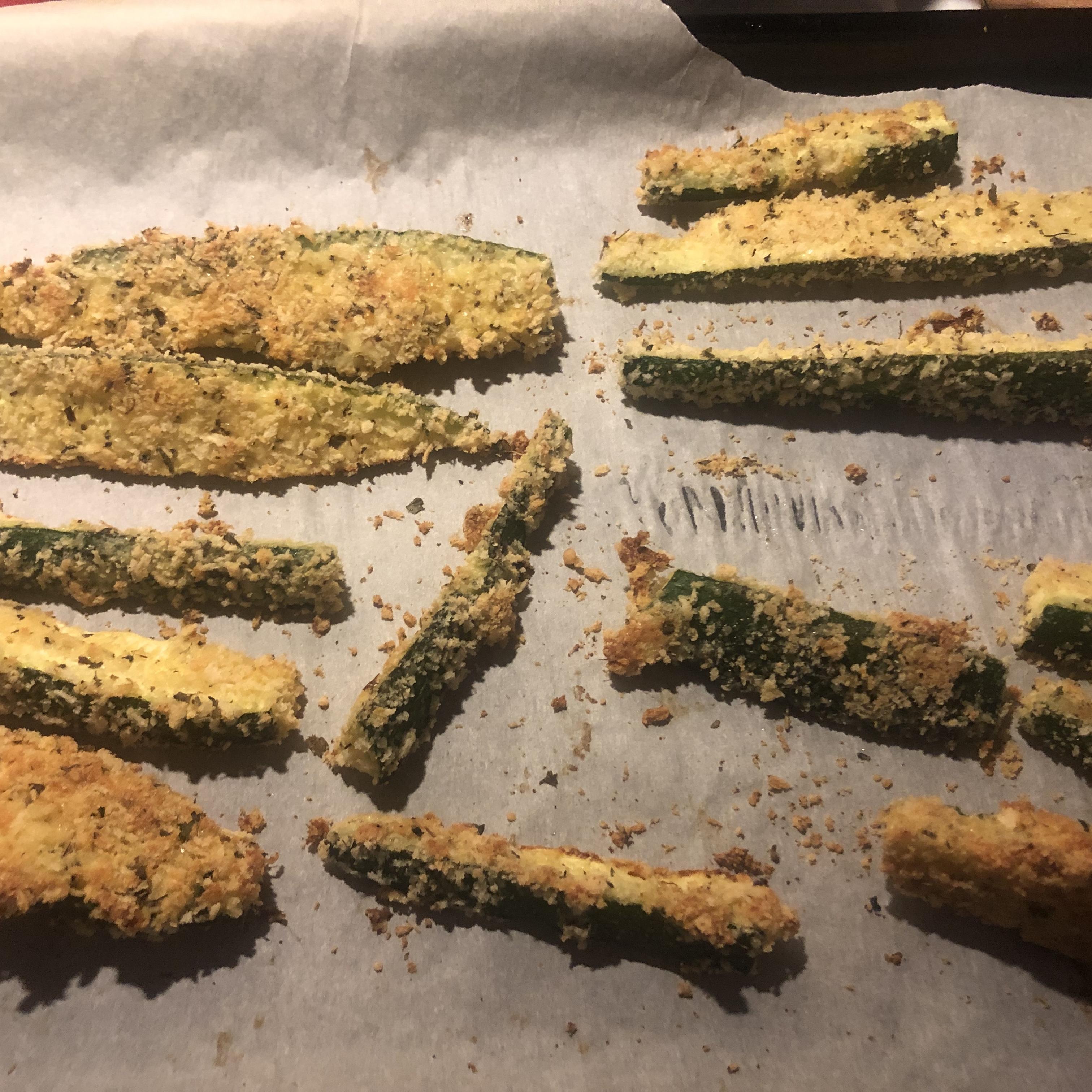 Baked Zucchini Sticks Kerri Anne