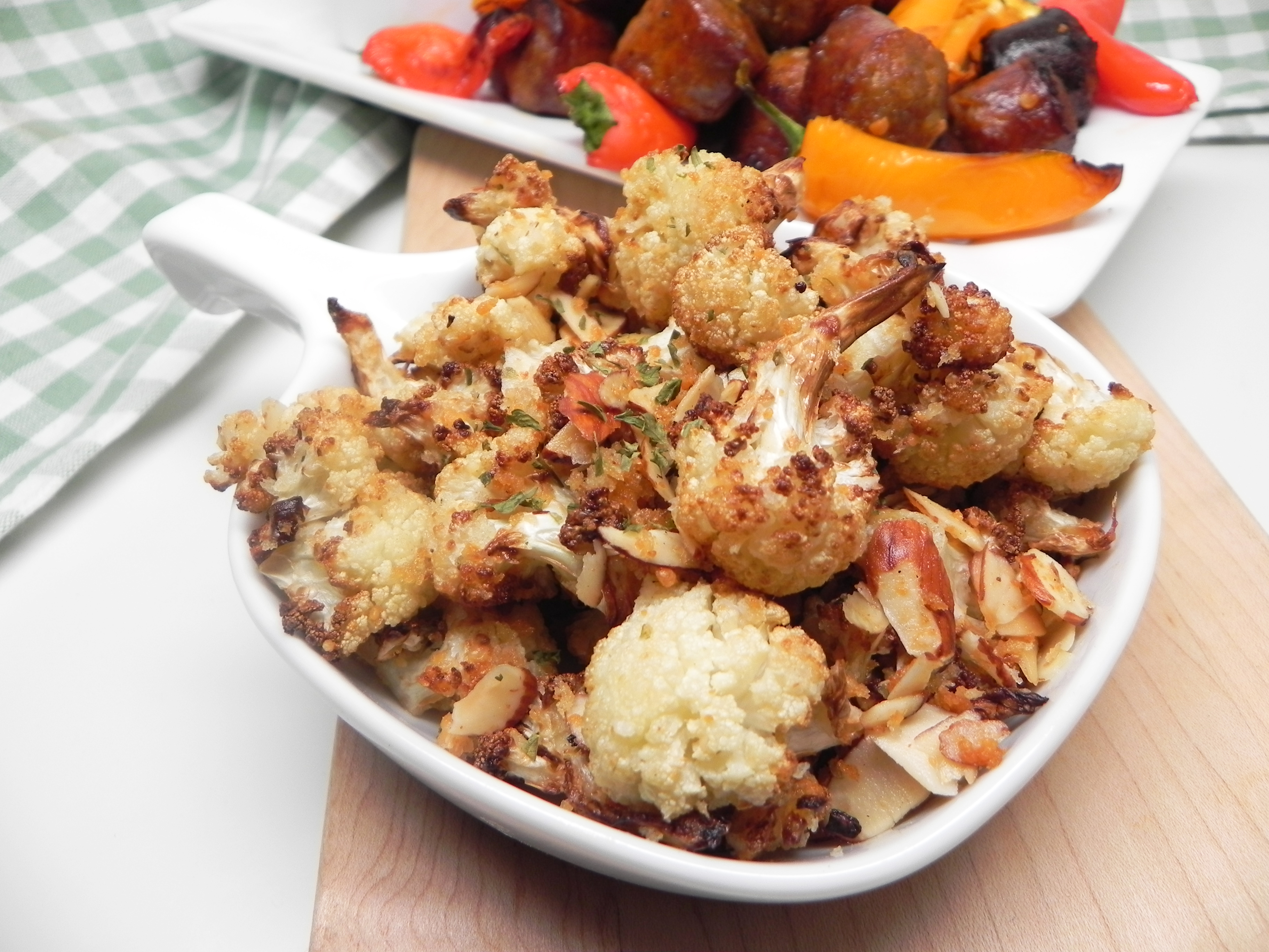 Air-Fried Cauliflower with Almonds and Parmesan Soup Loving Nicole