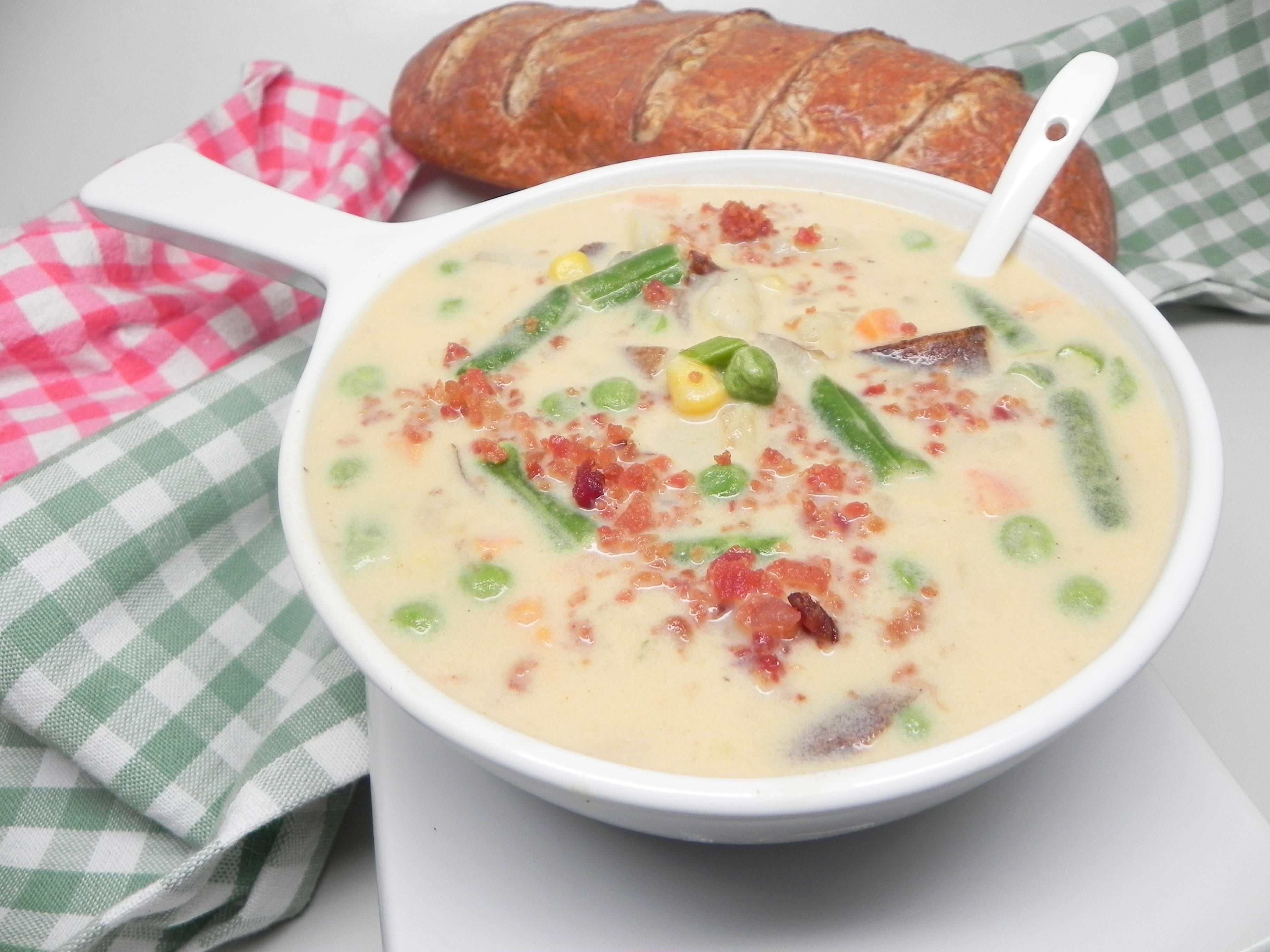 Cheesy Slow Cooker Potato Soup