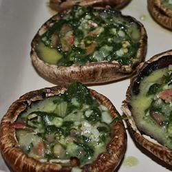 Stuffed Mushrooms with Spinach sunchyme