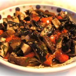 Linguine with Portobello Mushrooms Sarah Banta Dzikowicz