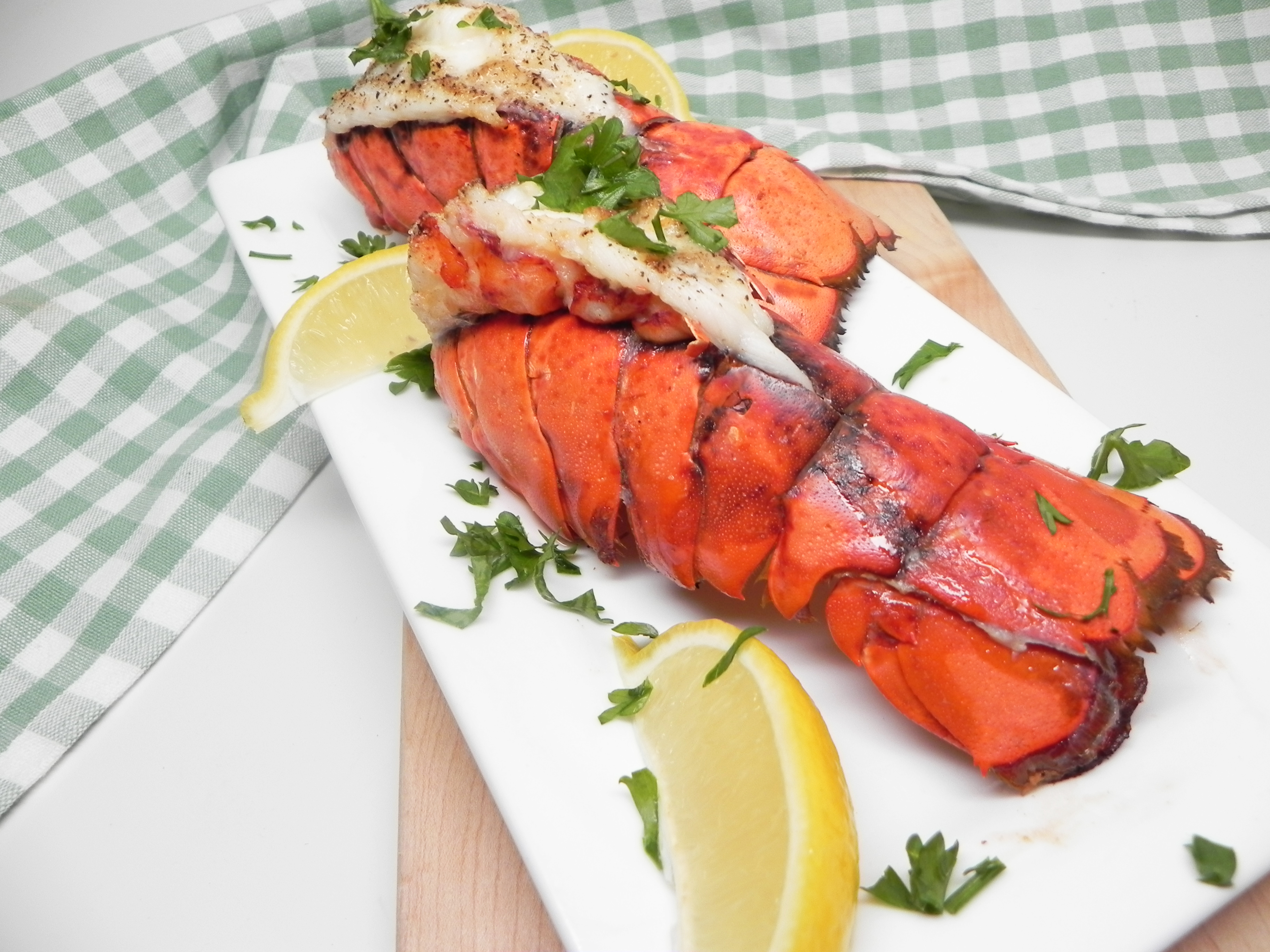 "Go ahead, indulge in meaty lobster tails cooked in your air fryer and served with a lemon-garlic butter sauce. ""Loved this!"" raves Soup Loving Nicole. ""I will never cook lobster in anything other than an air fryer again!"""