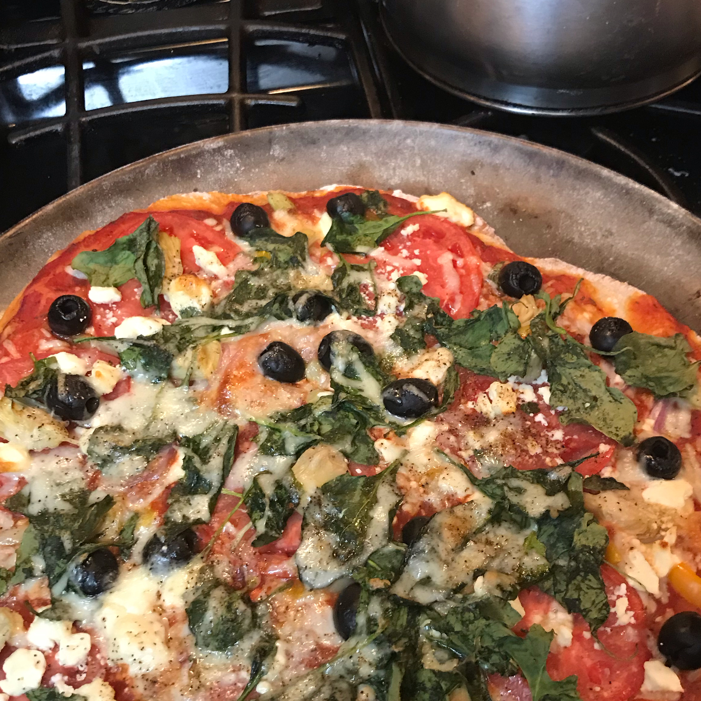 Greek Pizza with Artichokes and Feta Cheese