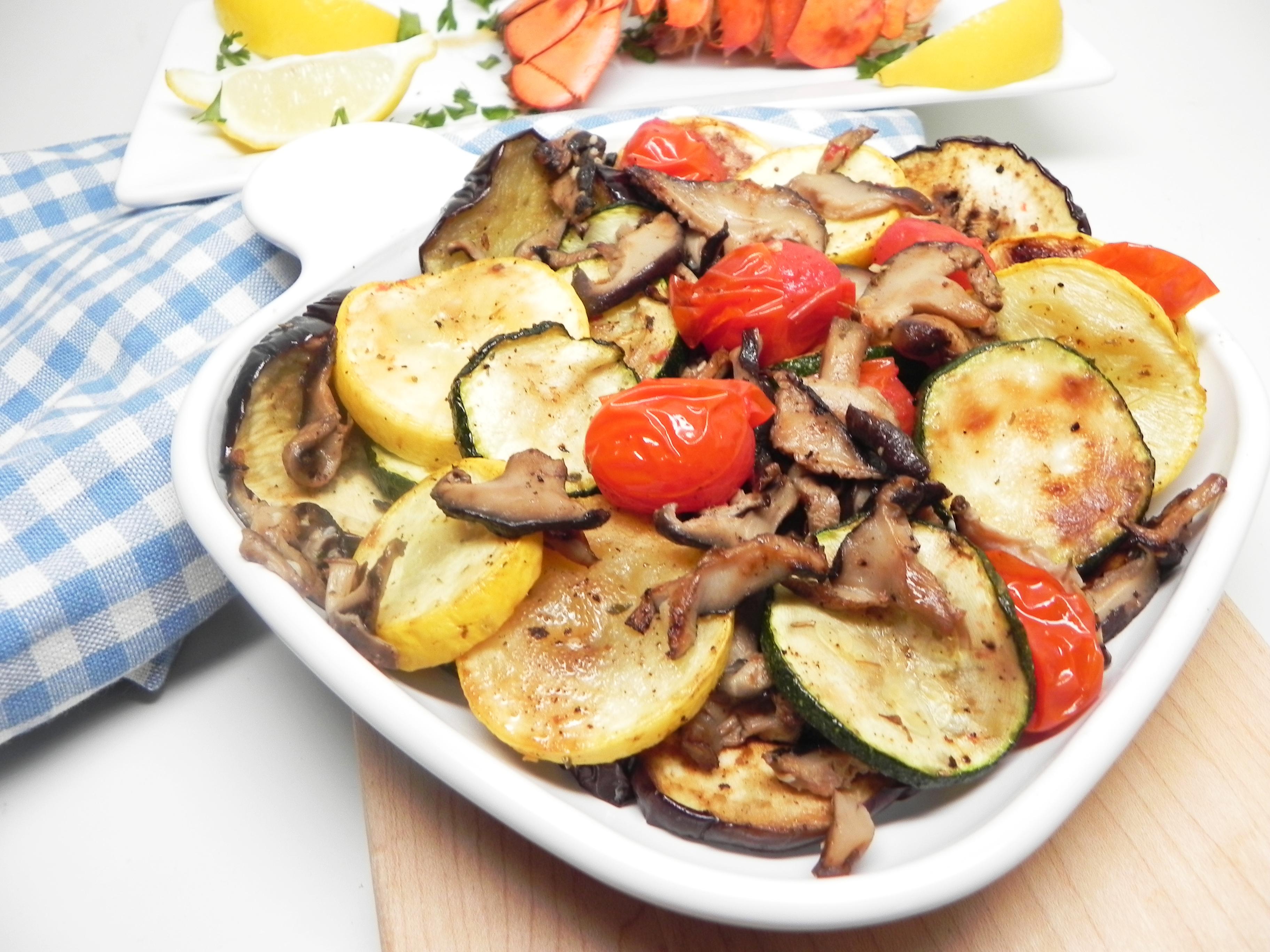 Air-Fried Mediterranean Vegetable Medley