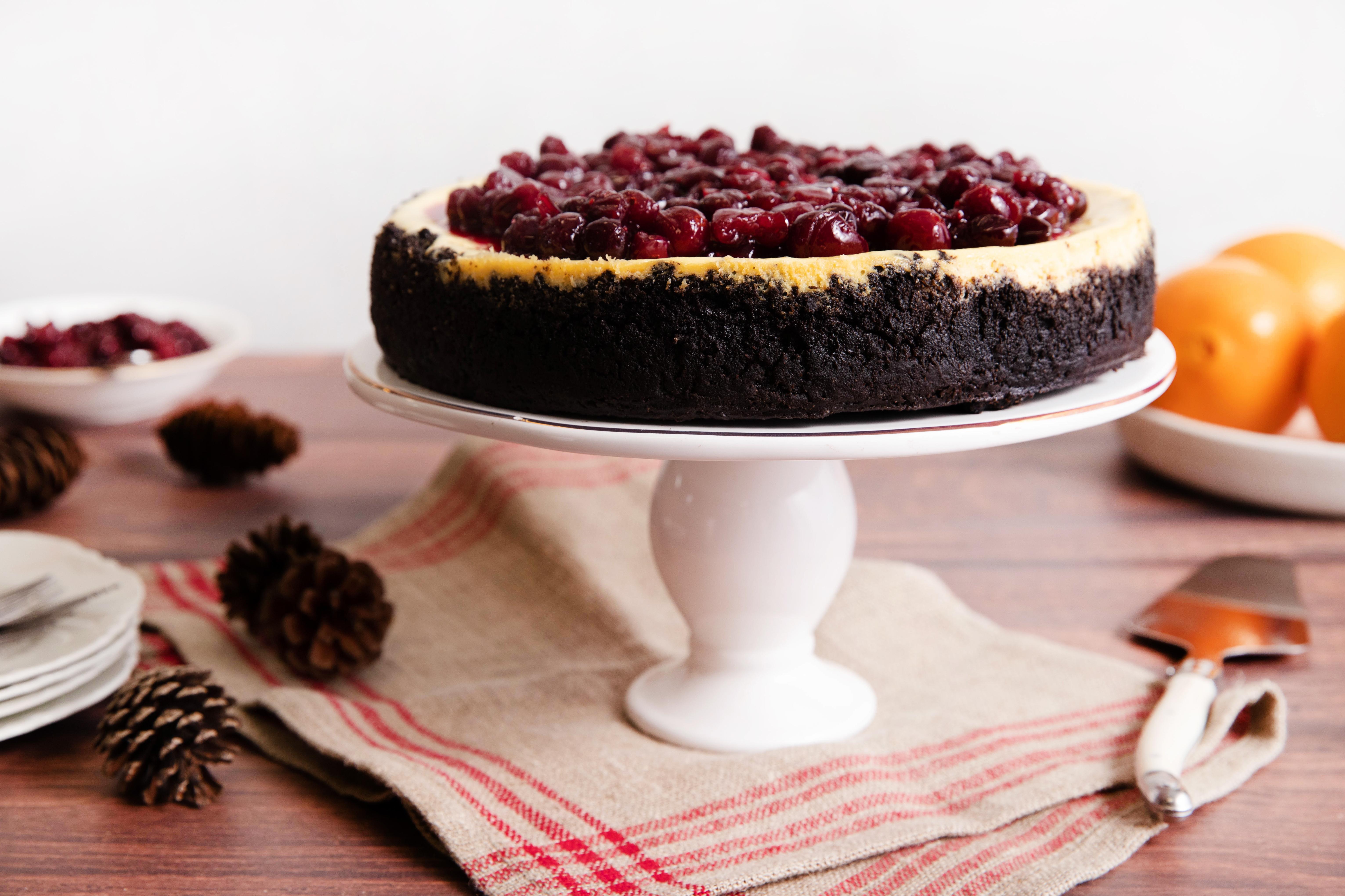 Cranberry Mascarpone Cheesecake In The Raw