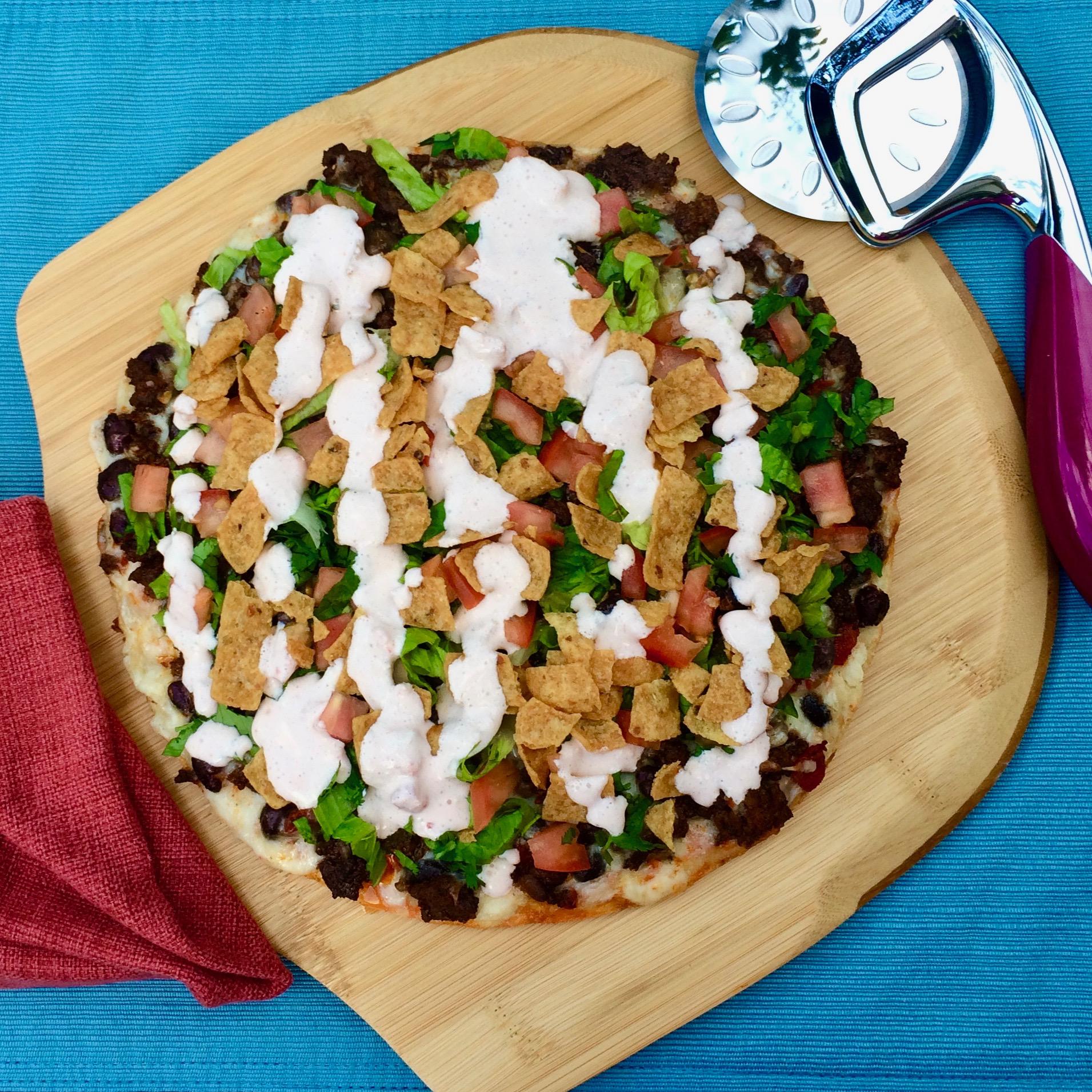 Taco Salad Pizza Bibi