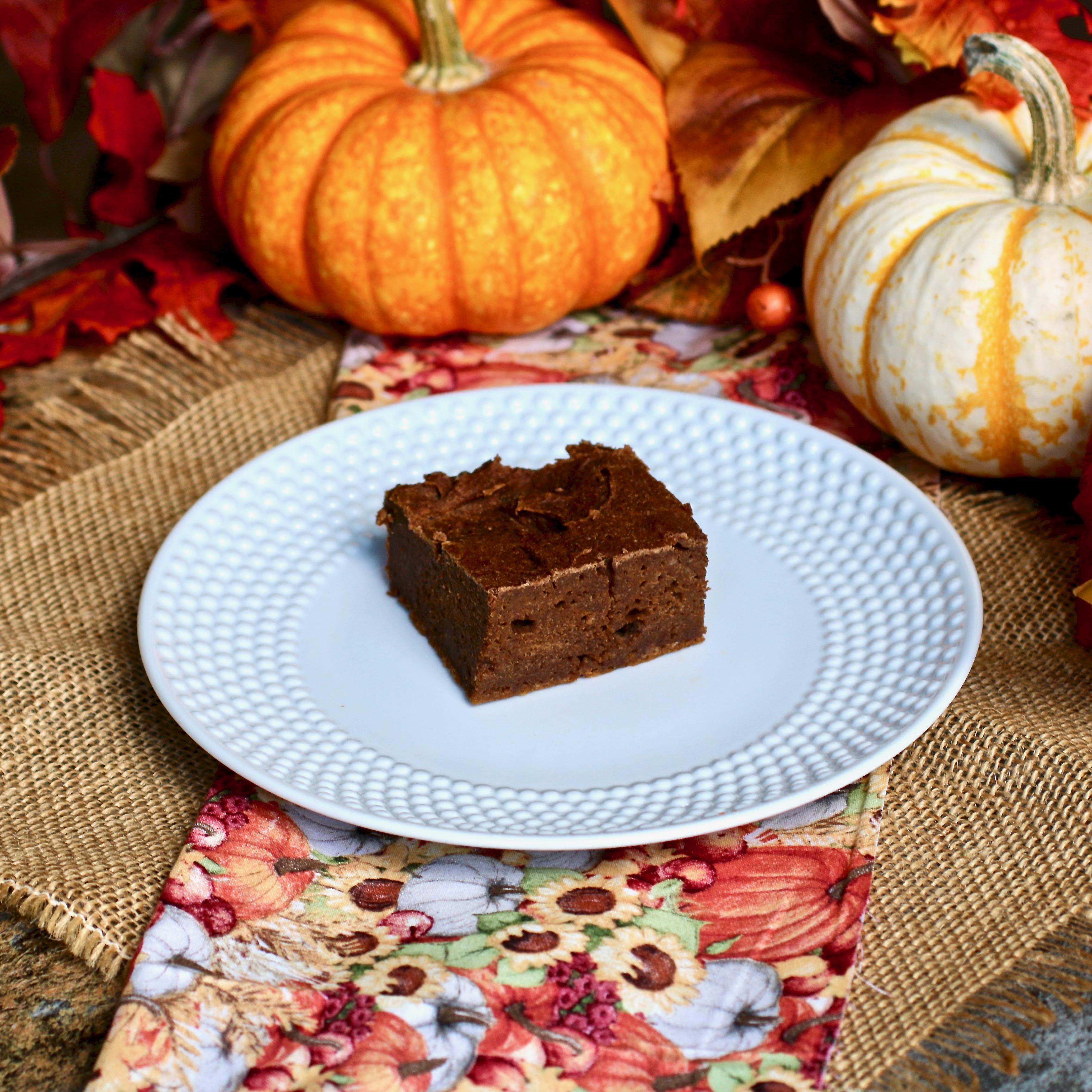 Chocolate-Pumpkin Brownies chernobletink