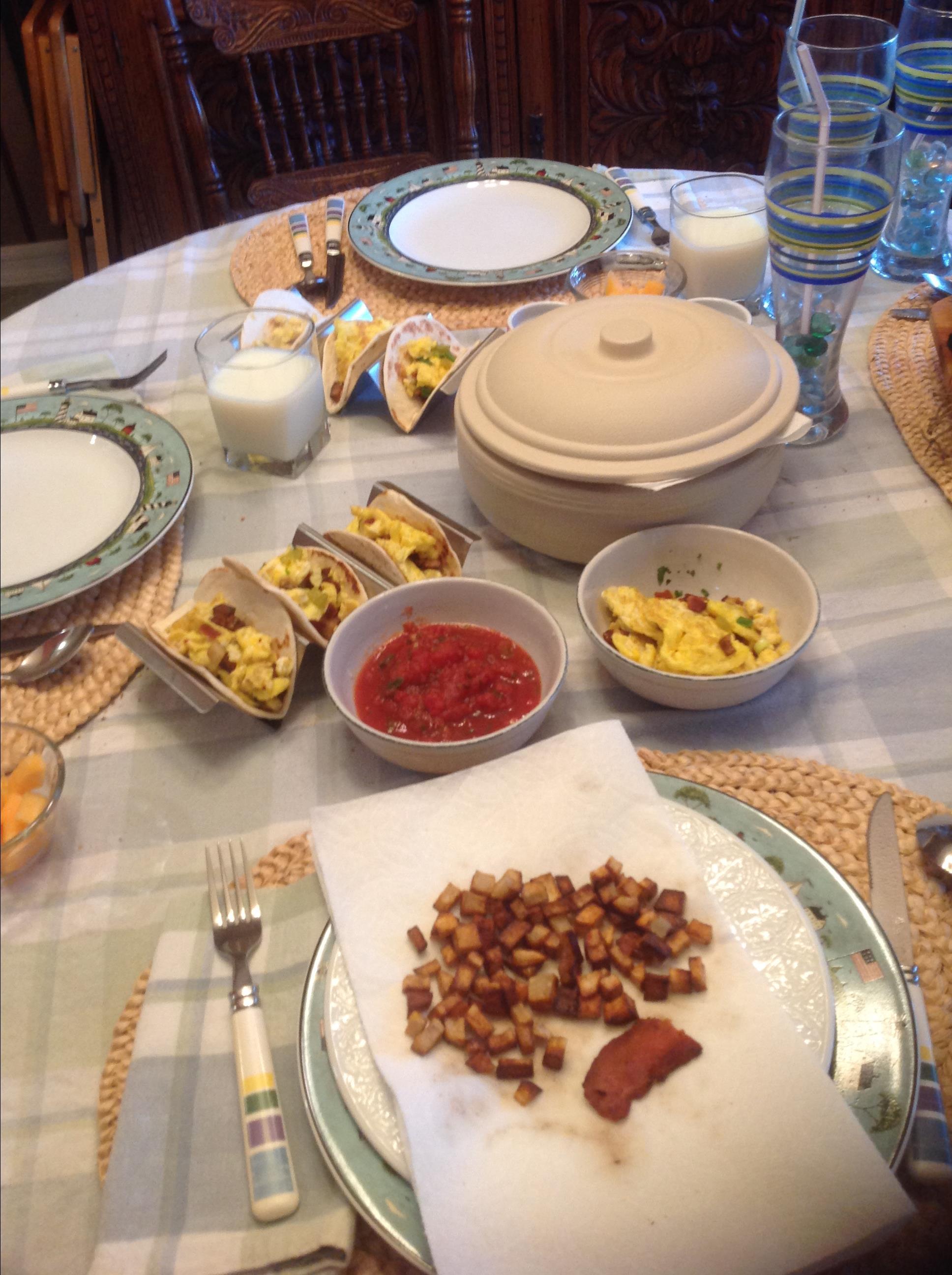 Potato Breakfast Tacos